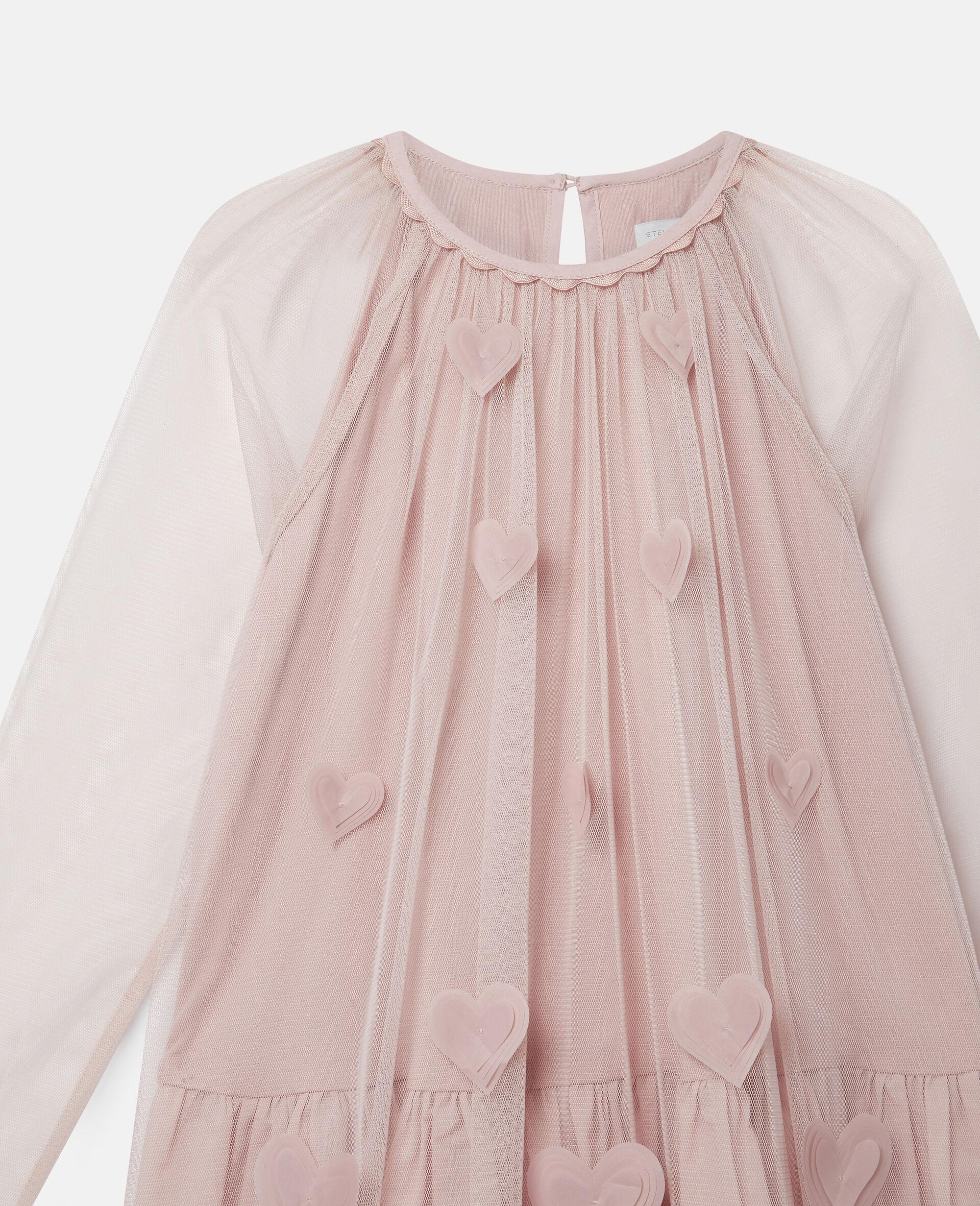 3D Hearts Tulle Dress-Pink-large image number 2