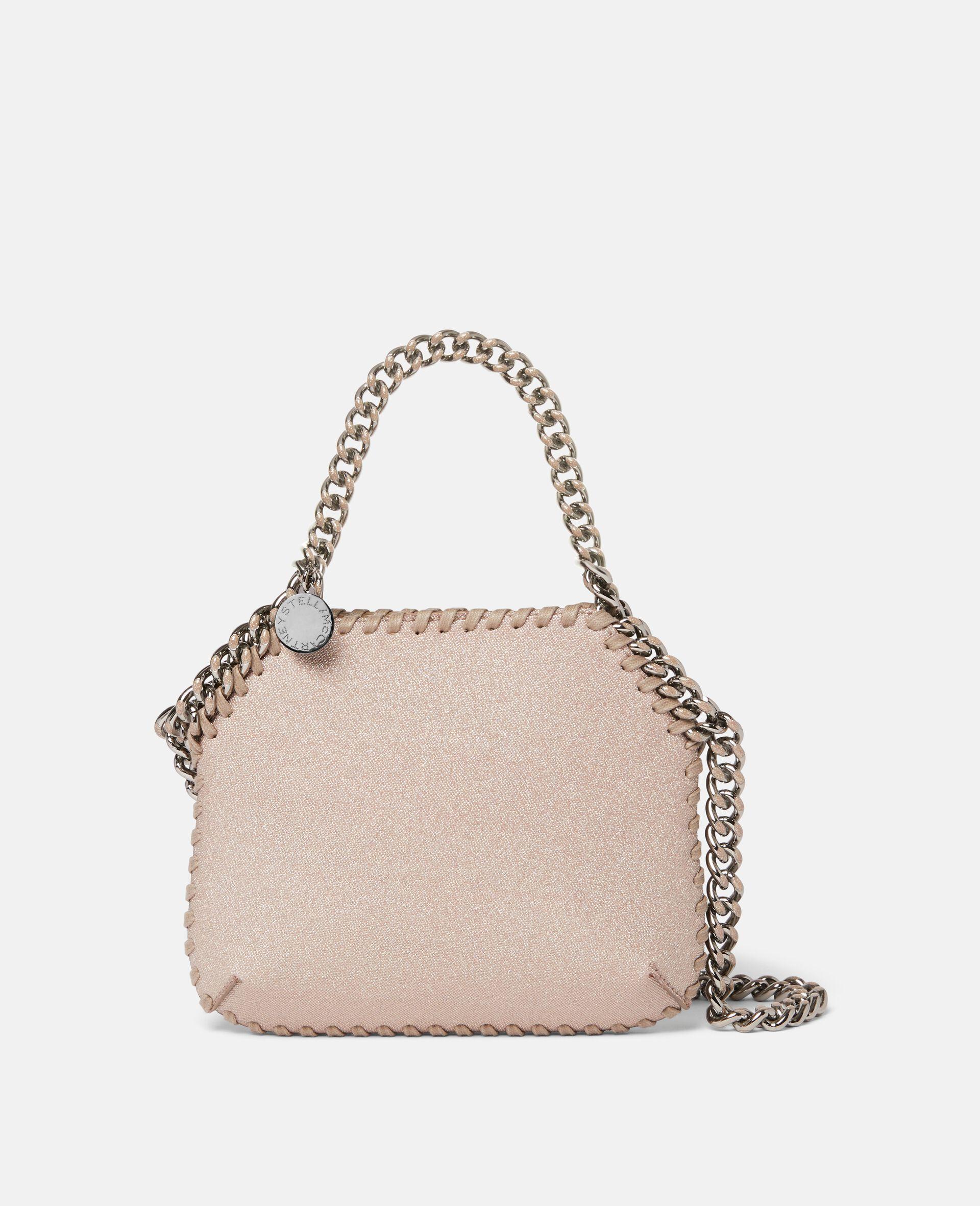 Mini sac porté épaule Falabella Glitter -Rose-large image number 0