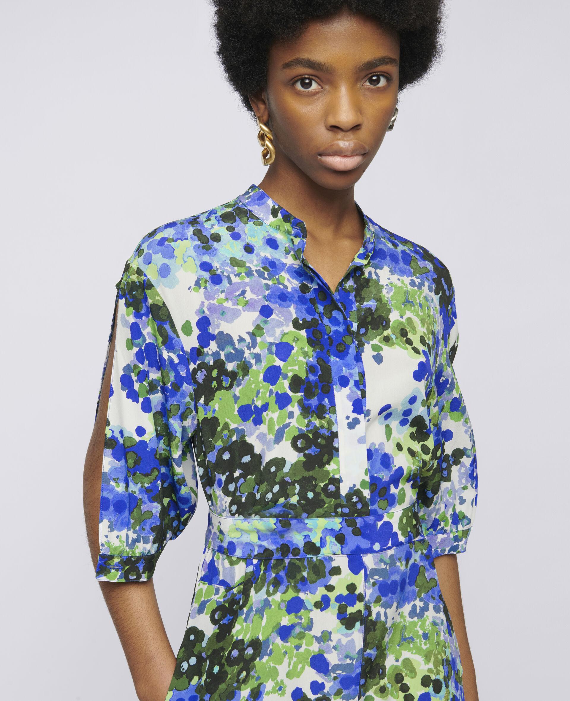 Olivia Silk Dress-Multicolour-large image number 3