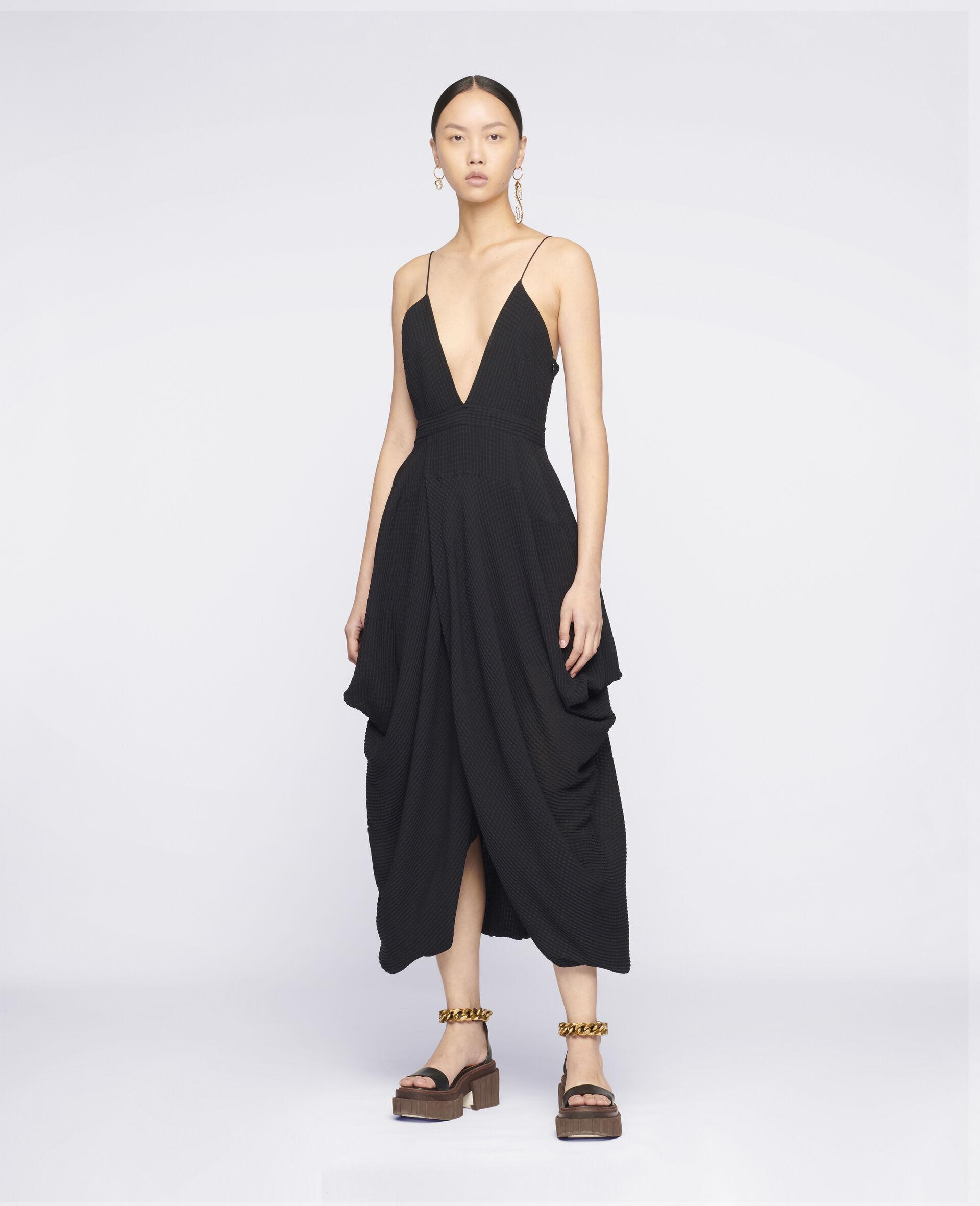 Jenna Silk Dress-Black-large image number 1