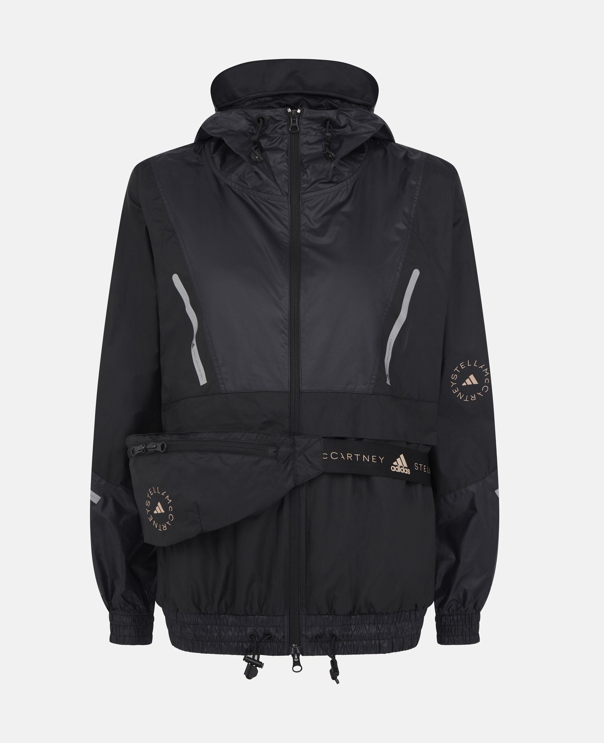 Black Training Windbreaker Jacket-Black-large image number 0