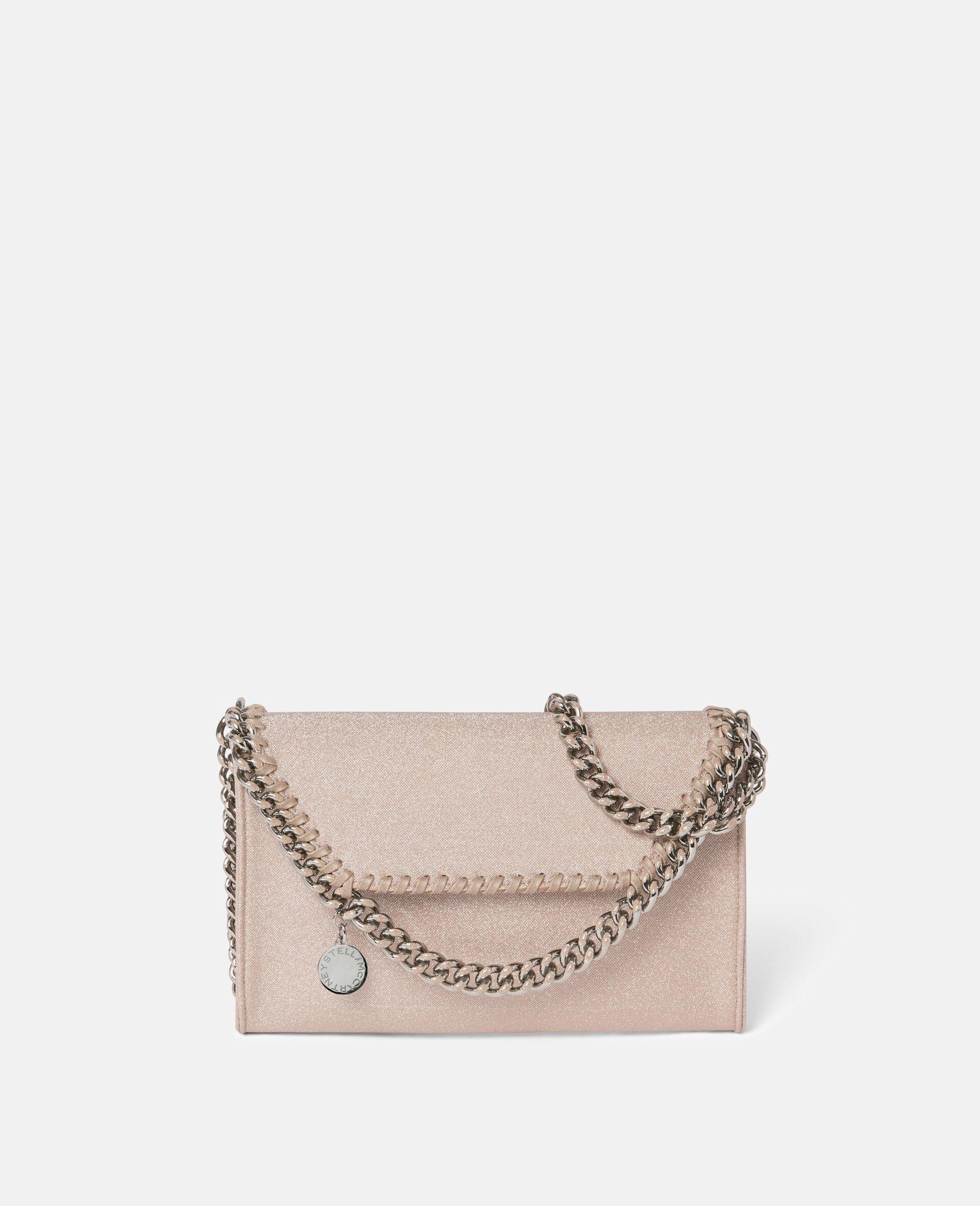 Falabella Glitter Mini Shoulder Bag -Pink-large image number 0