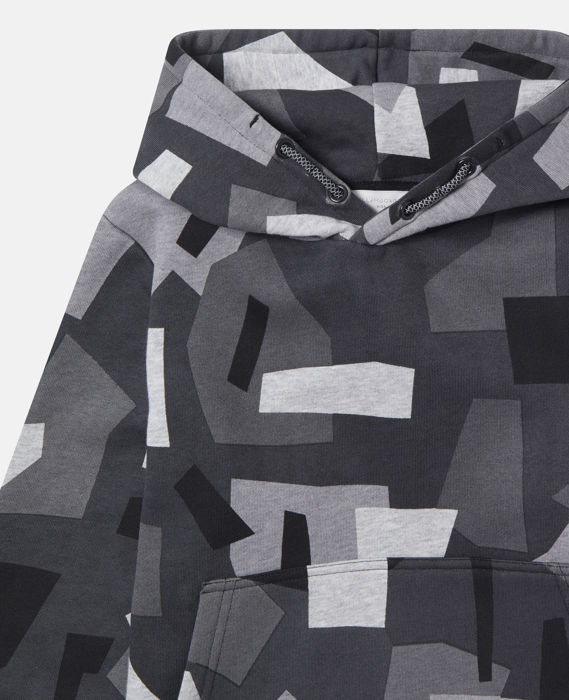 Felpa Geometrica Oversize in Cotone-Fantasia-large image number 0