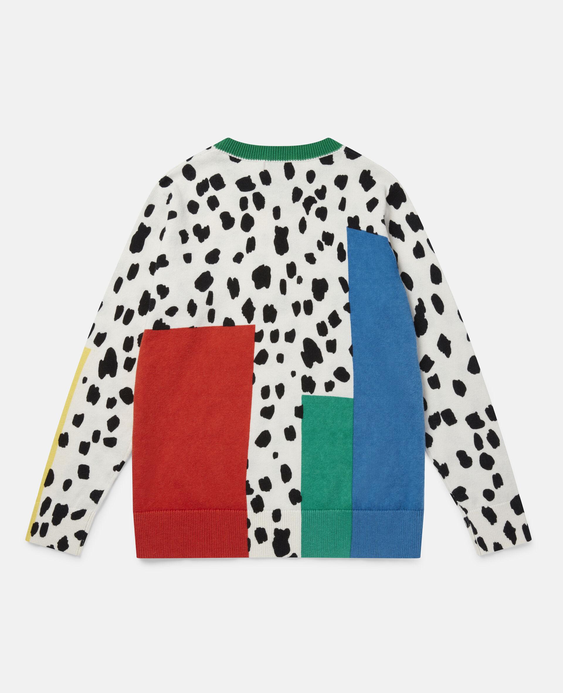 Pull en maille motif taches dalmatien-Fantaisie-large image number 3