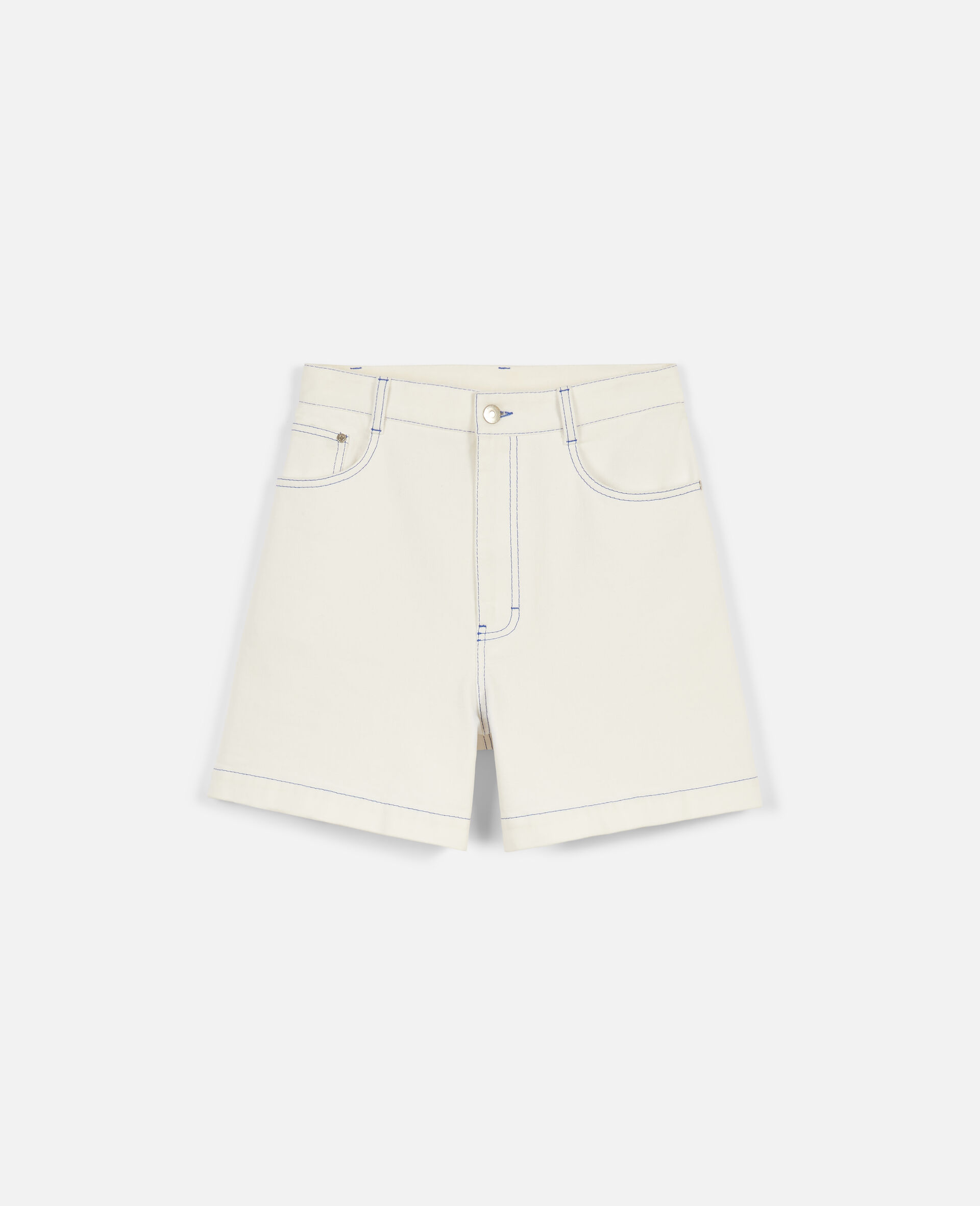 23 OBS Denim Shorts-White-large image number 0