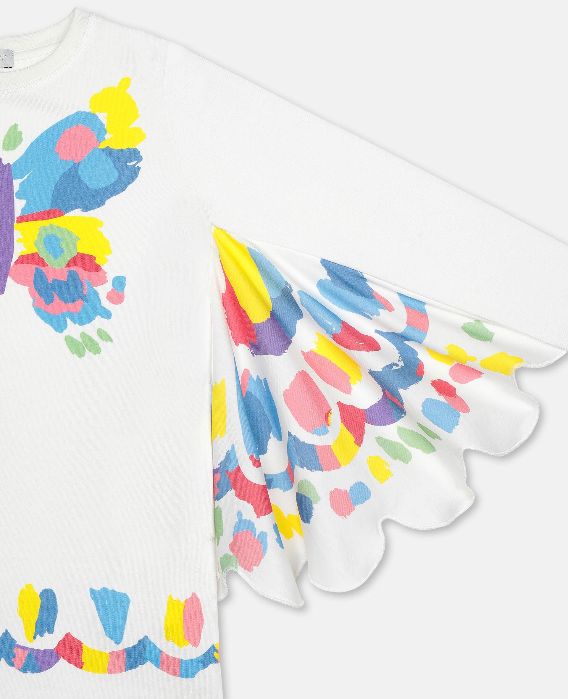 Robe en molleton à papillons-Blanc-large image number 1