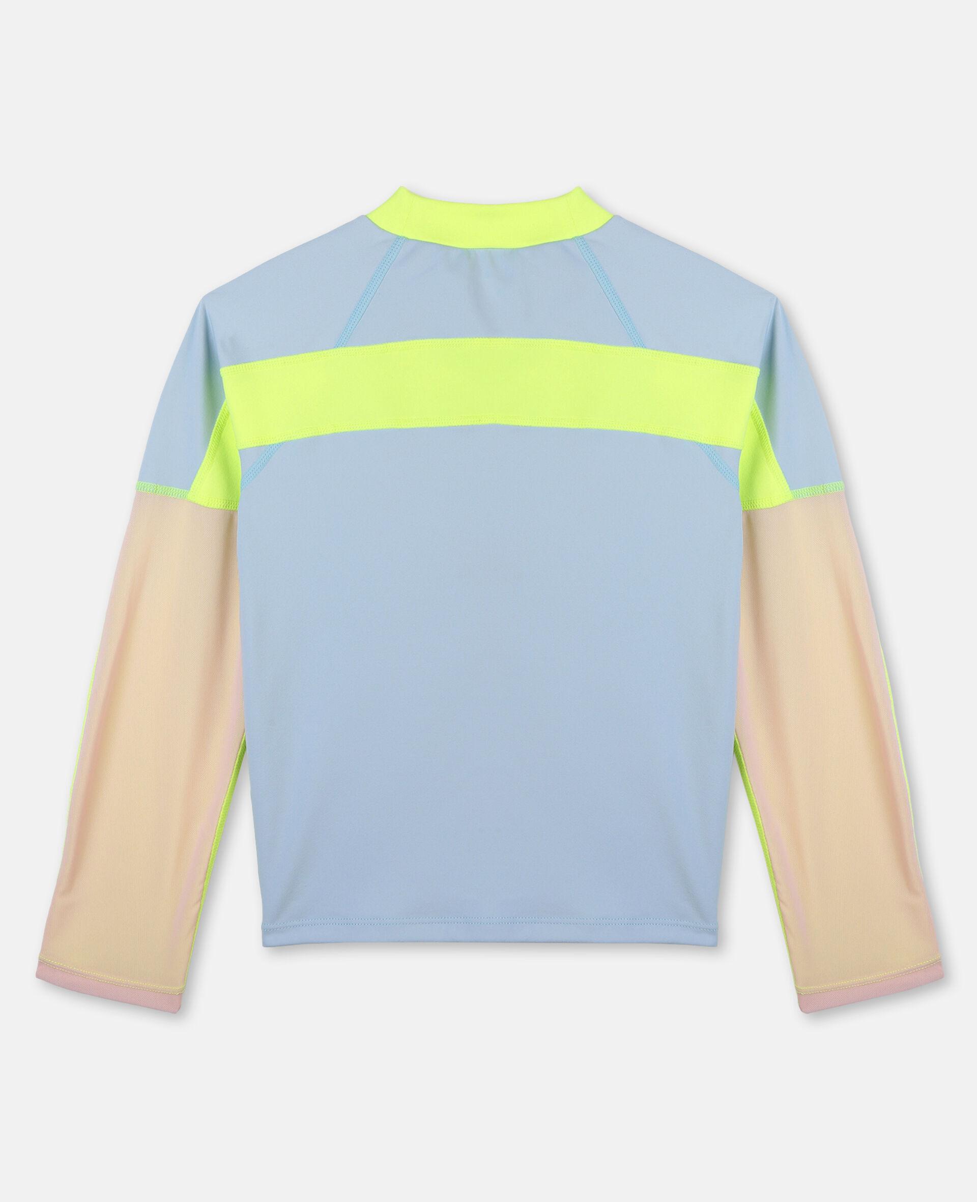 Active加厚平纹针织T 恤 -蓝色-large image number 3