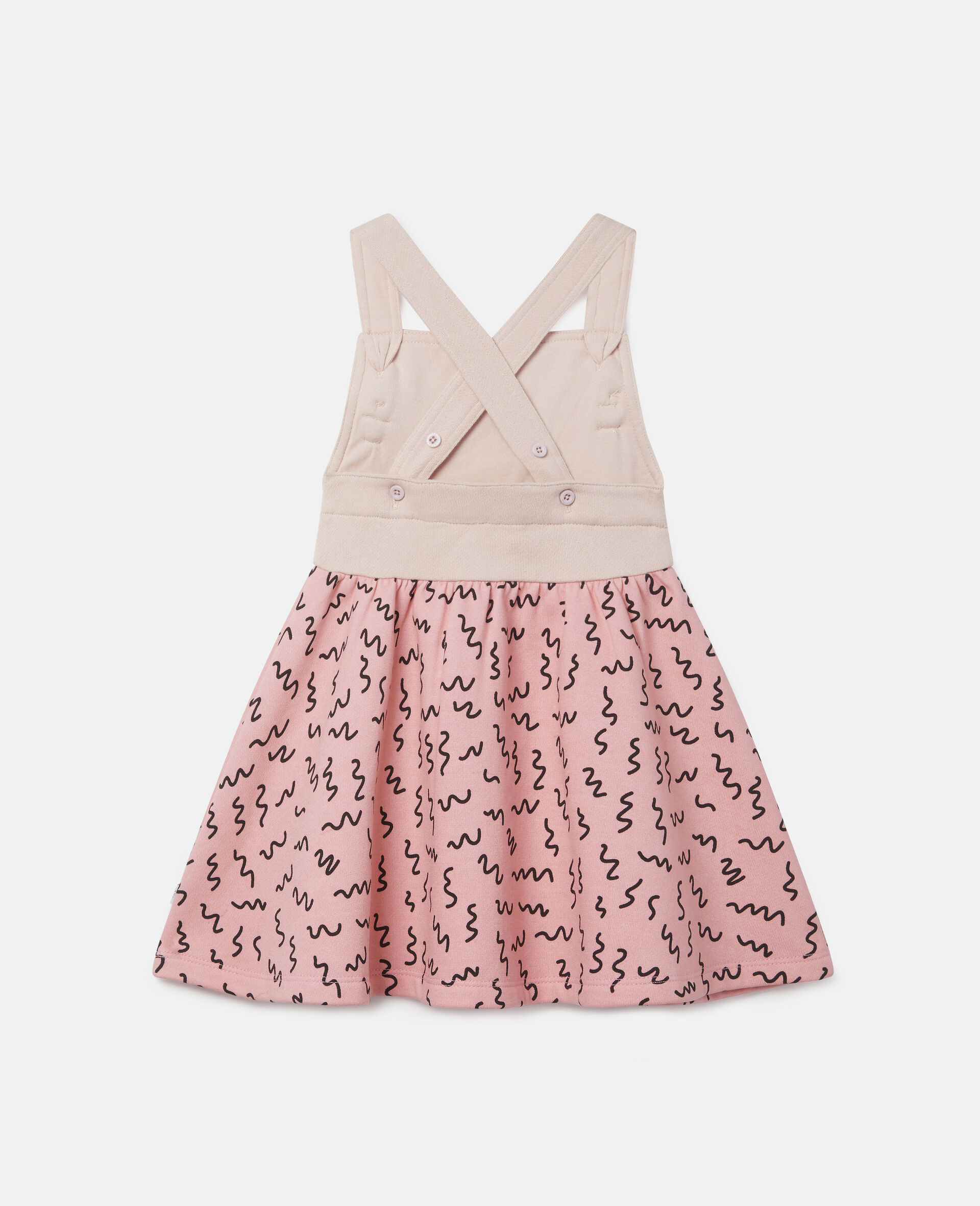 Robe en polaire motif caniche-Rose-large image number 3