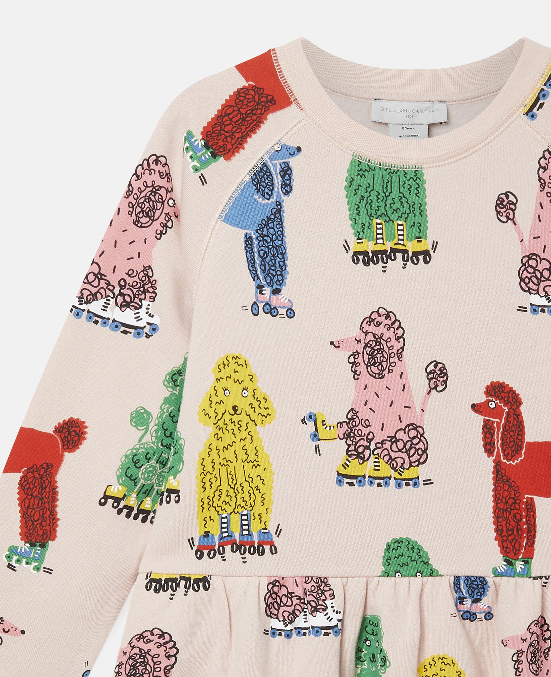 Doodle Poodles Fleece Dress -Pink-large image number 2