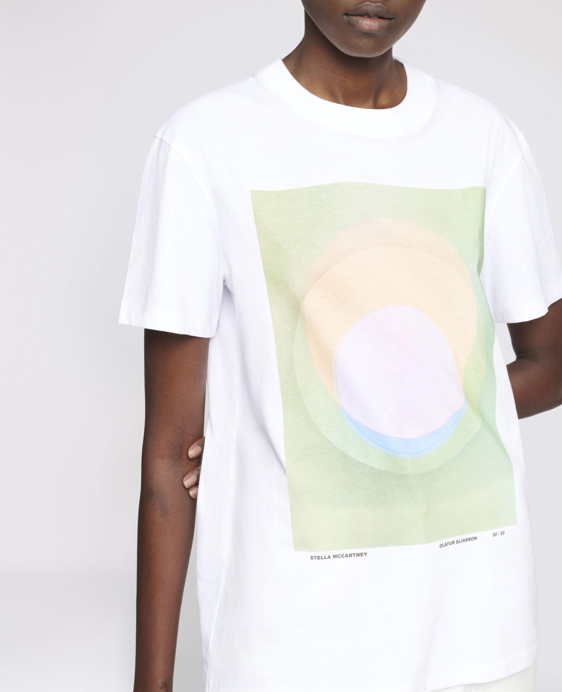 "T-Shirt ""O"" di Olafur Eliasson-Bianco-large image number 3"