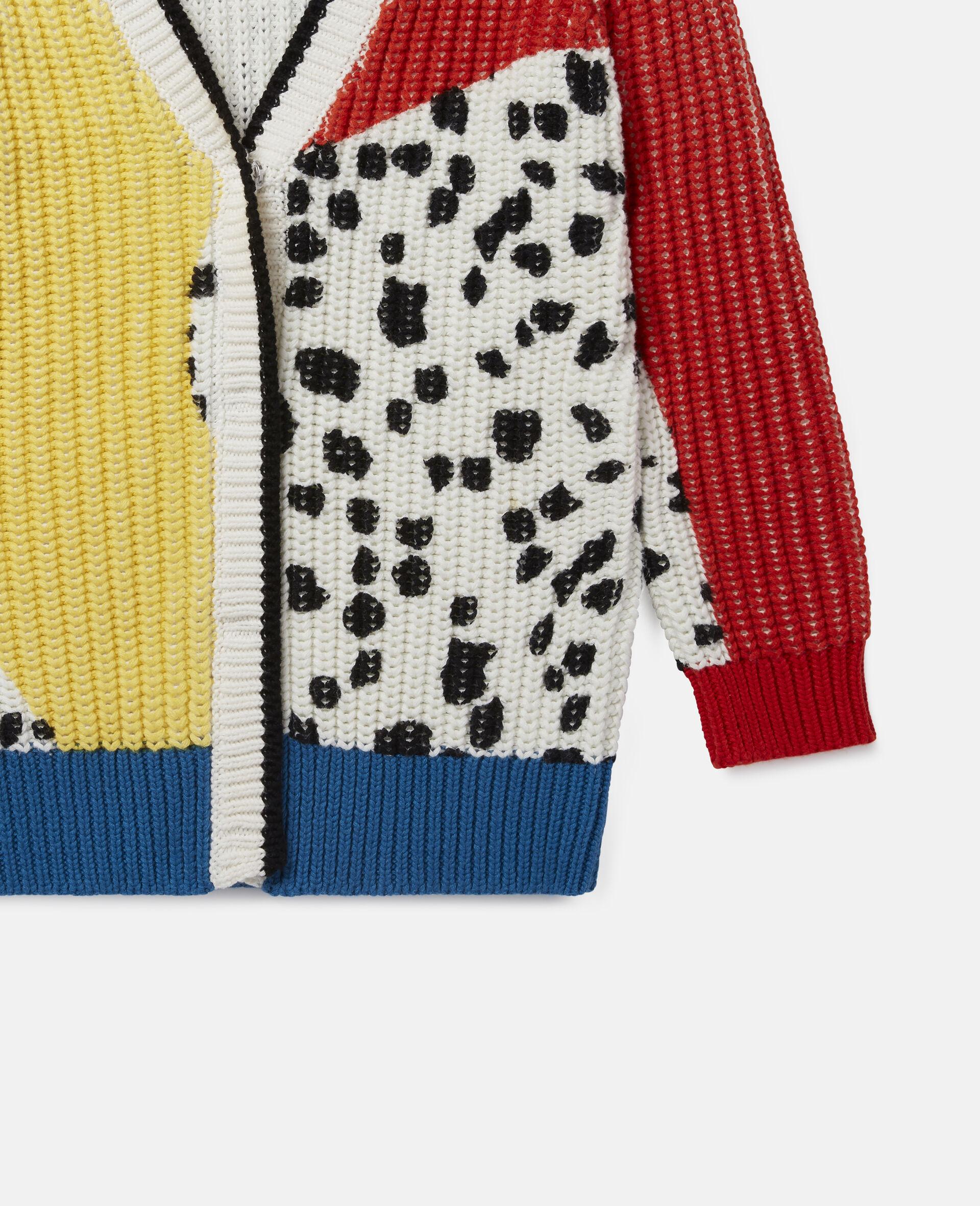 Dalmatian Spots Knit Cardigan -Multicoloured-large image number 2