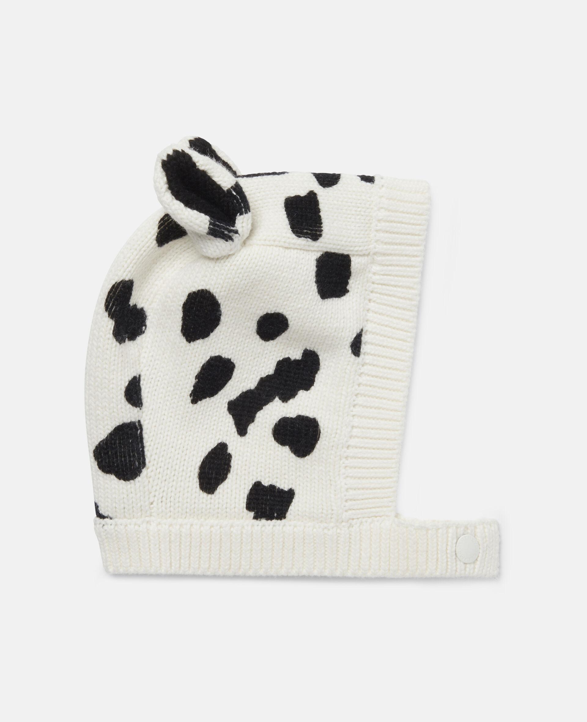 Dalmatian Spots Knit Hat-White-large image number 0