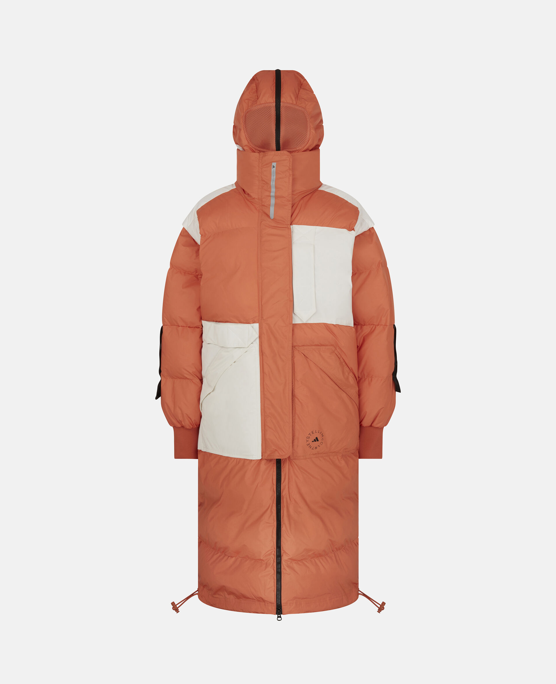 Dusted Clay and White Earth Protector Puffer-Orange-large image number 0