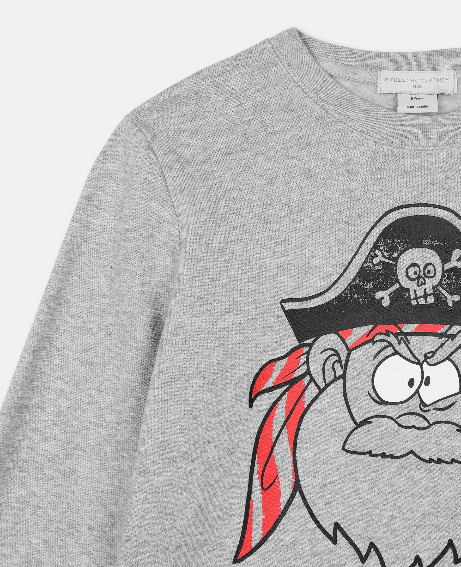 Baumwollsweatshirt mit Piraten-Print -Grau-large image number 2