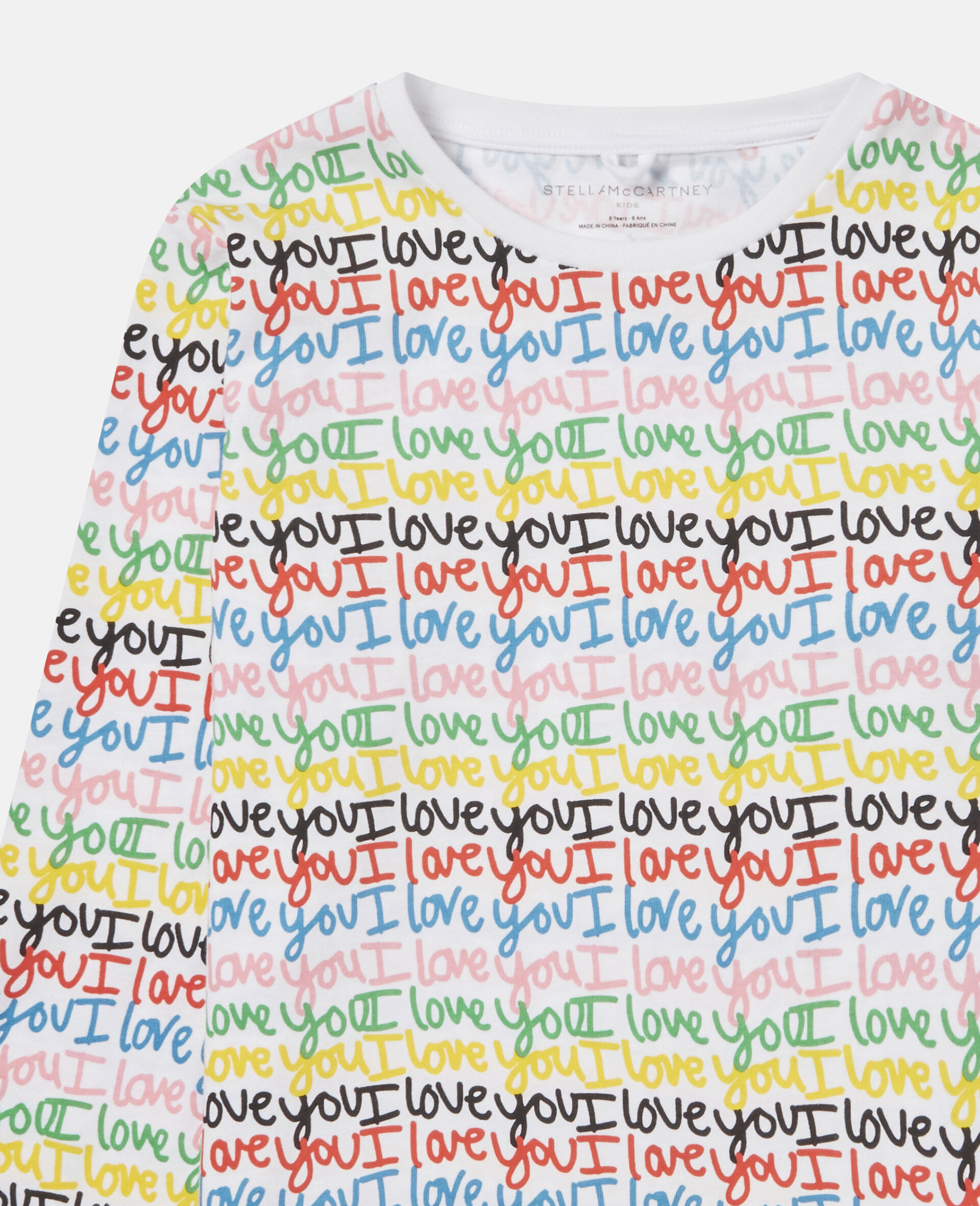 'Love You' Cotton Top-Multicolour-large image number 1