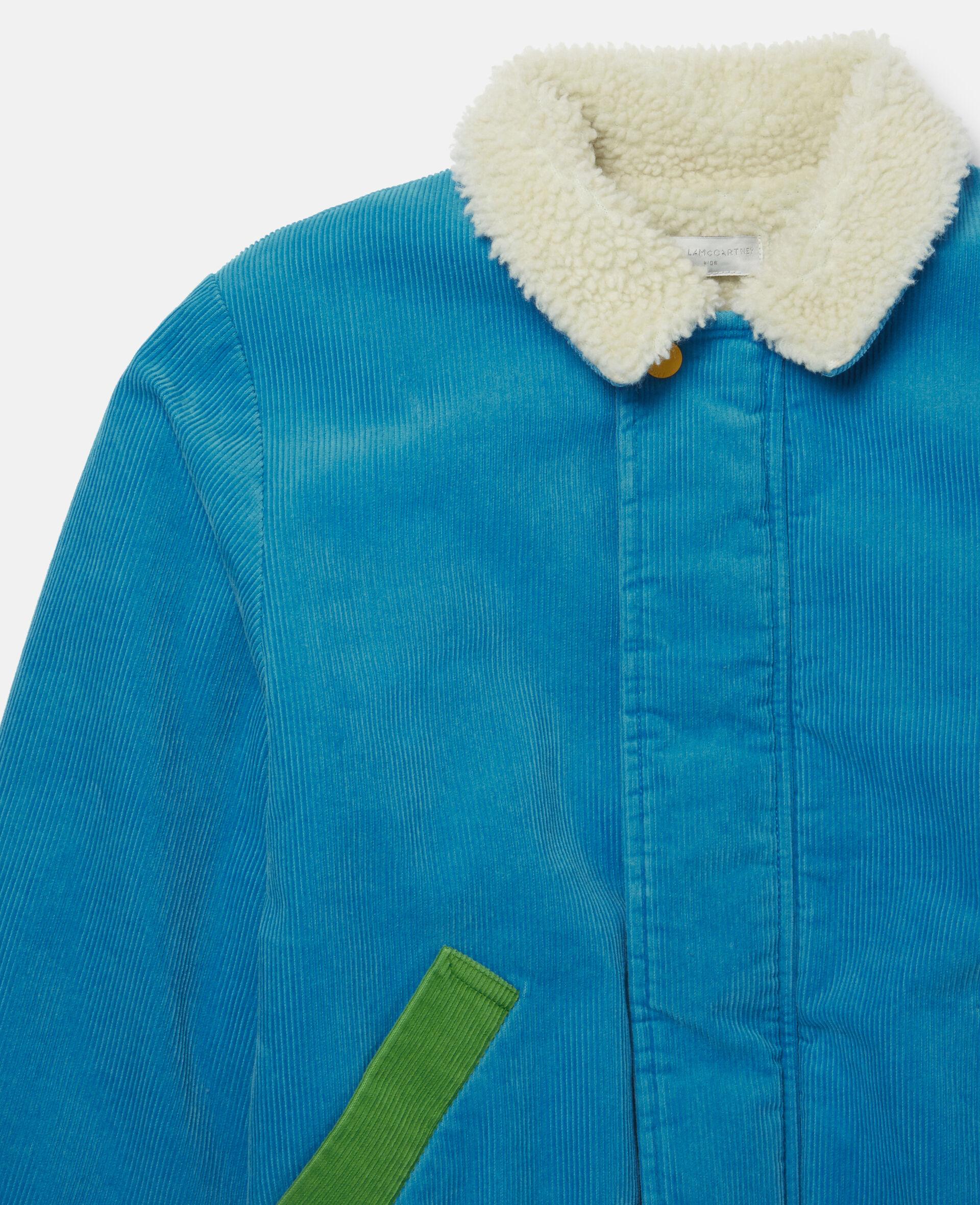 Veste en velours-Bleu-large image number 1