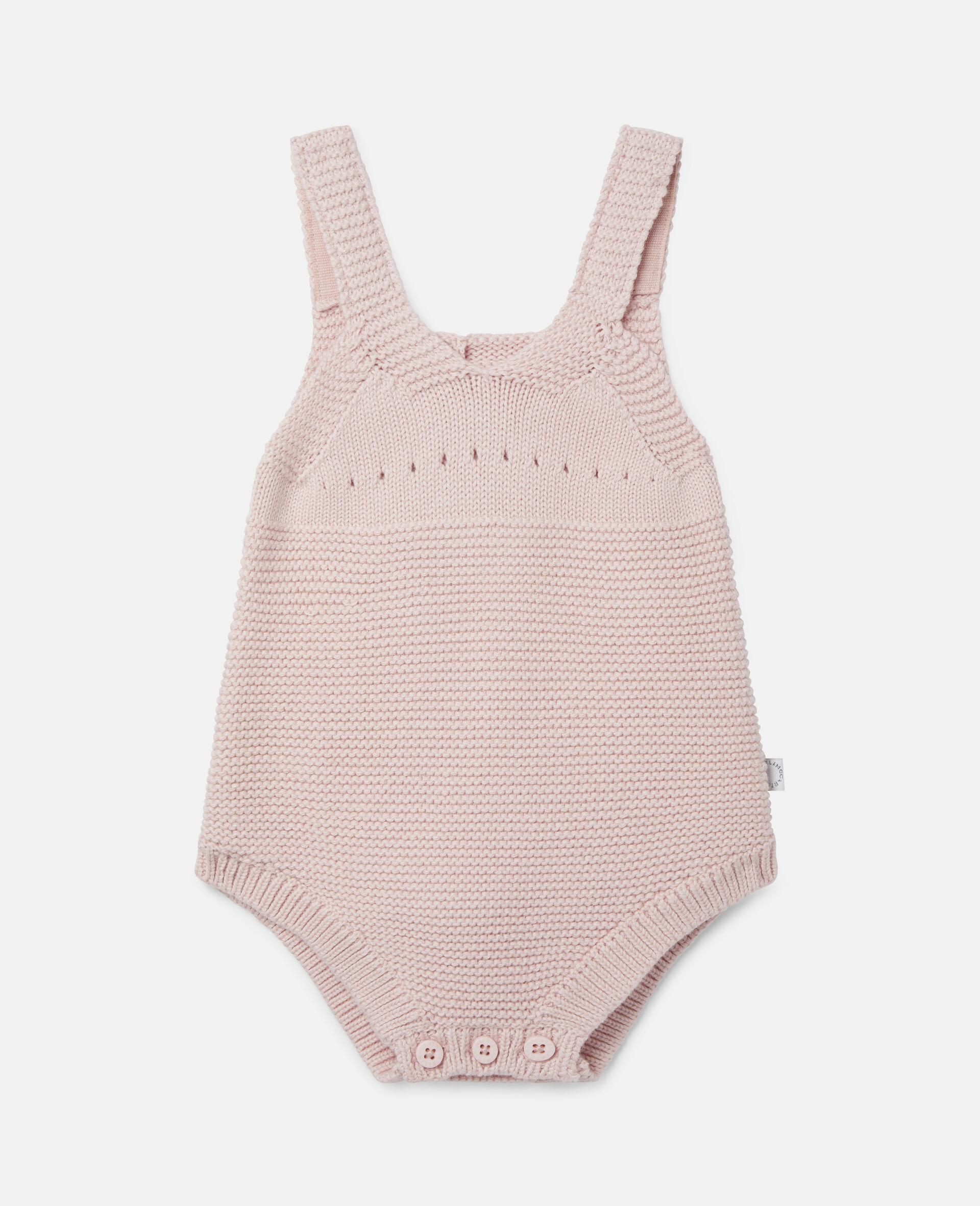 Poodle Knit Intarsia Body-Pink-large image number 0