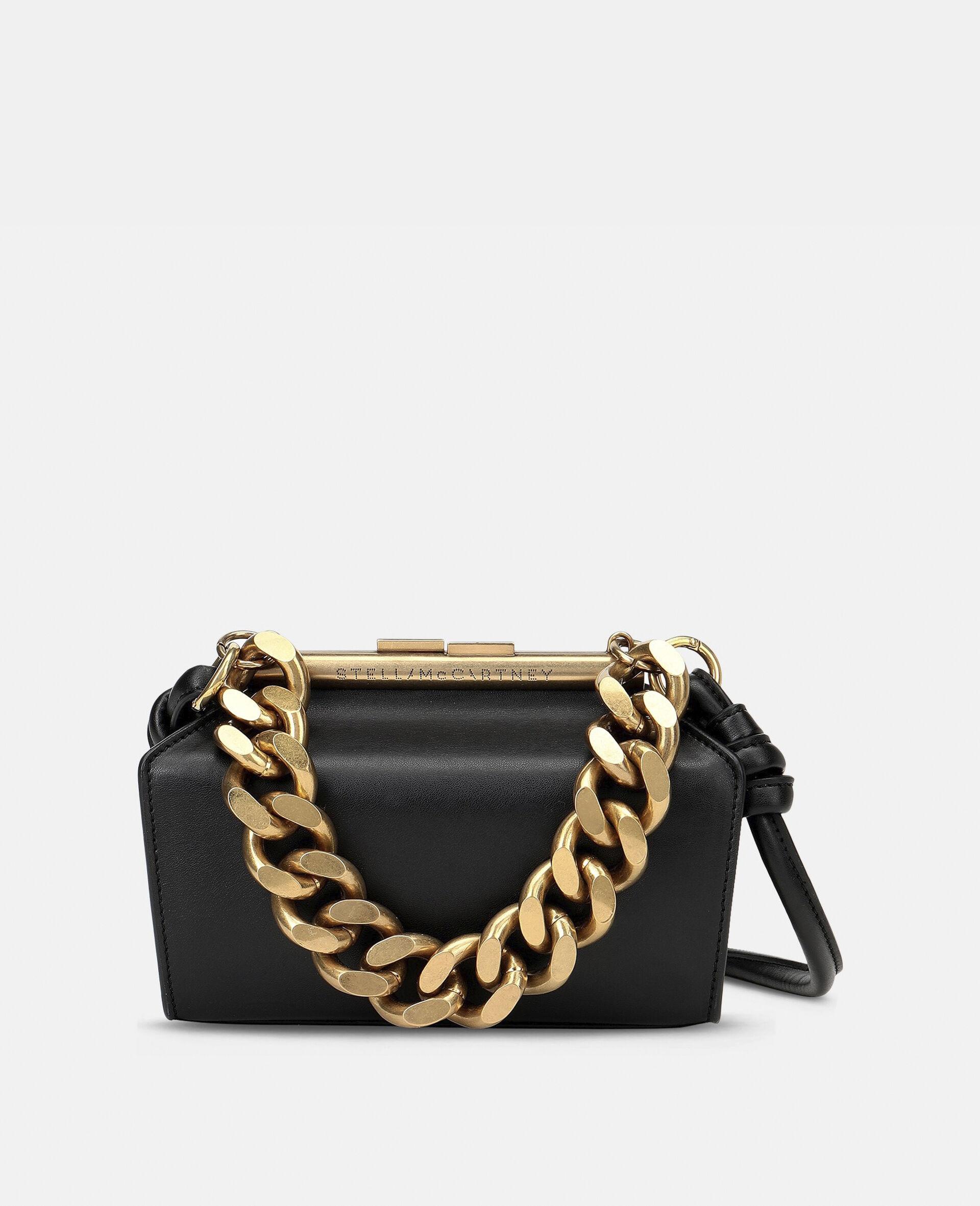Petit sac avec bandoulière chaîne épaisse-Noir-large image number 0