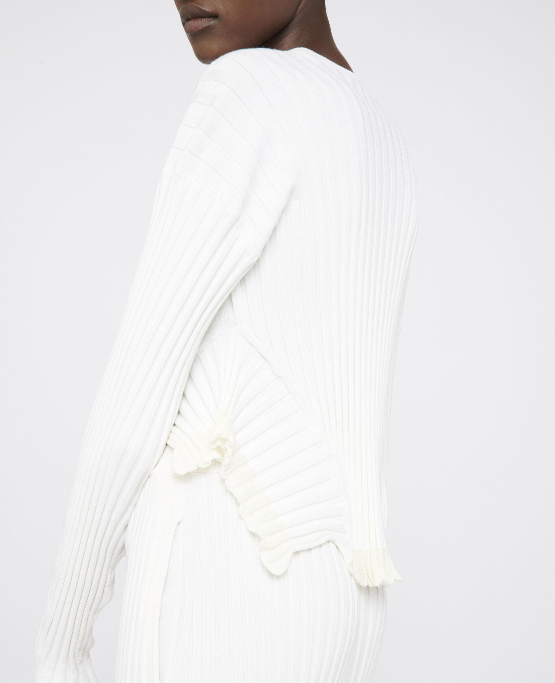Rib-Knit Jumper -White-large image number 3
