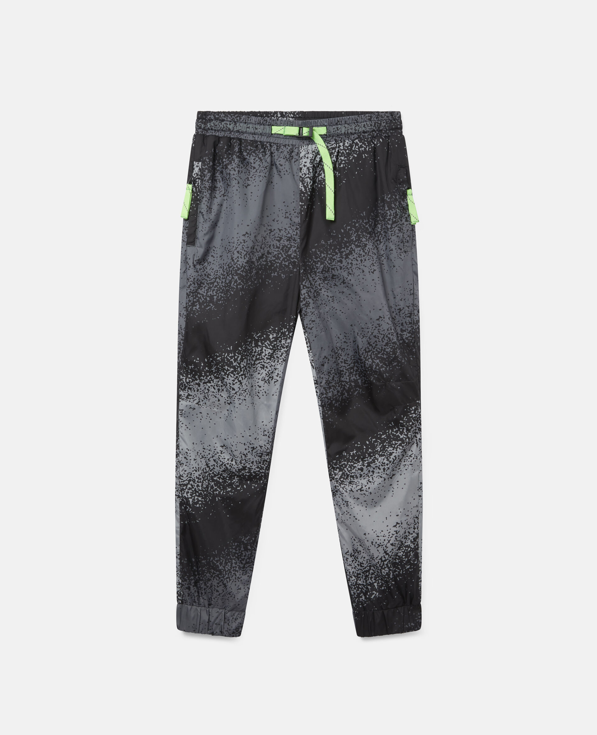 Spray Painted Effect Cargo Trousers-Grey-large image number 0