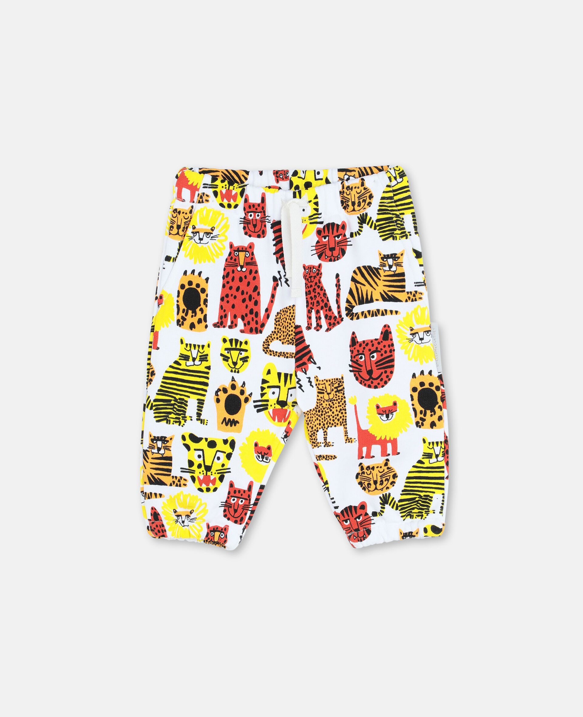 Wild Cats Cotton Joggers -Yellow-large image number 0