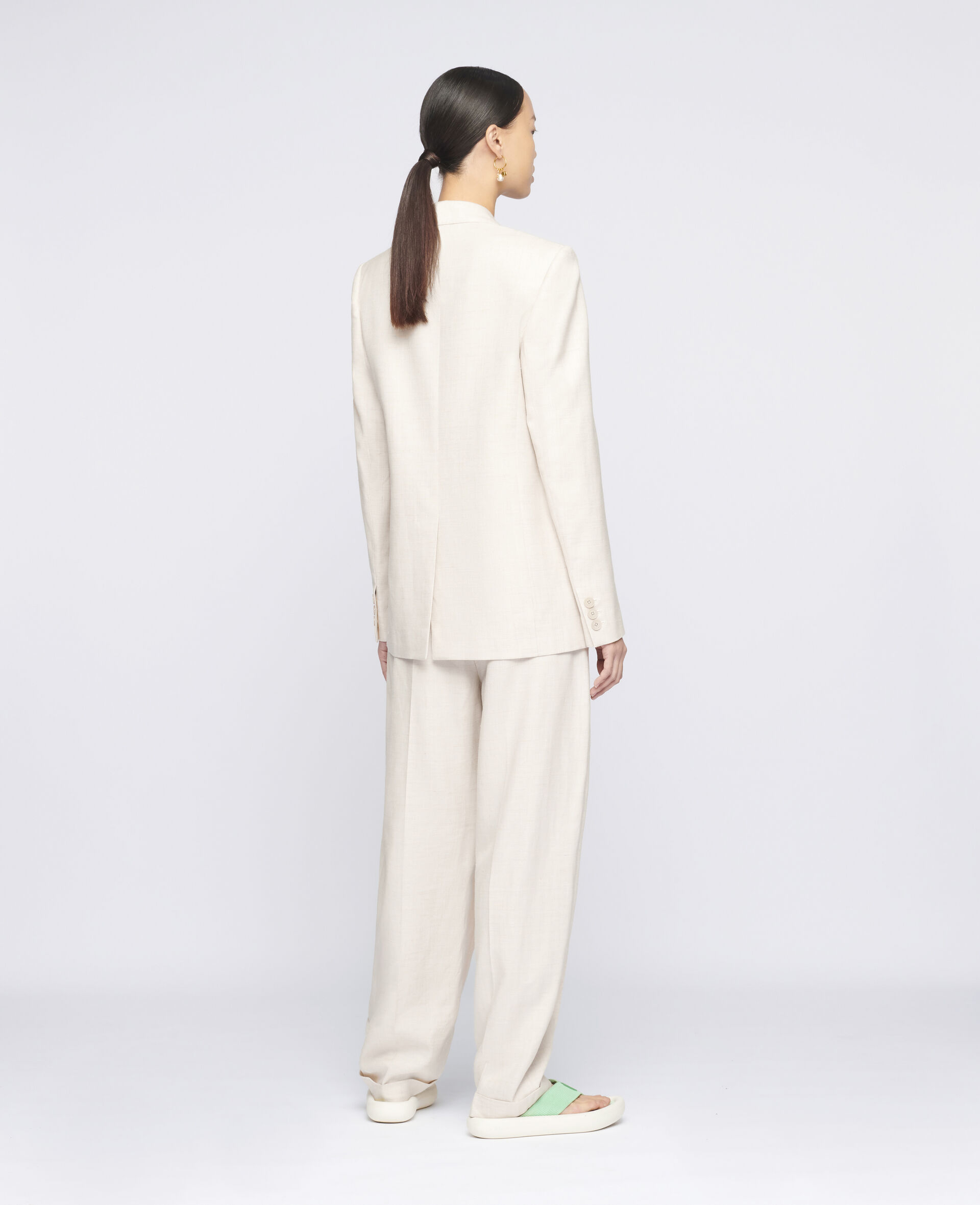 Ariana Tailored Trousers-Beige-large image number 2