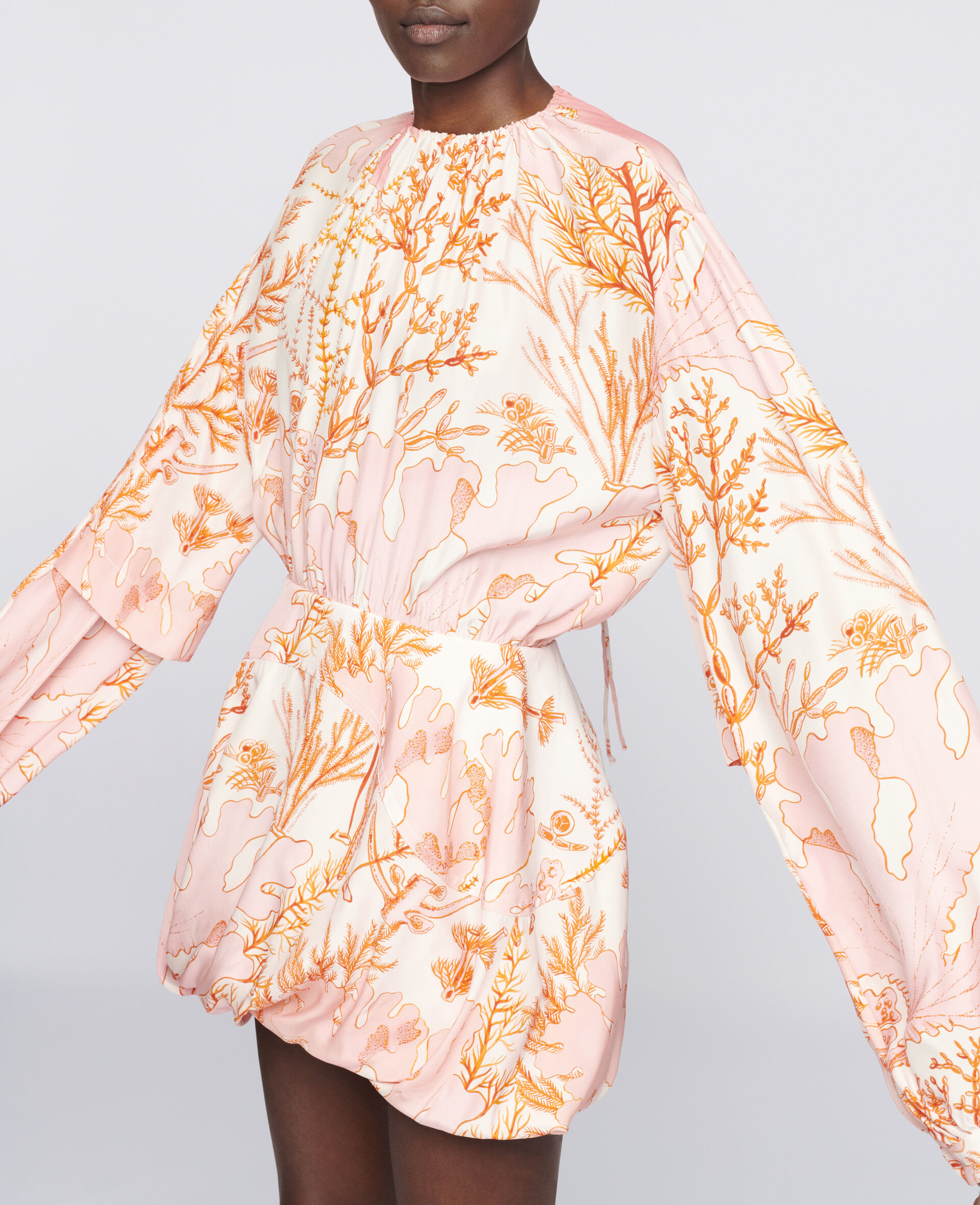 Amanda Silk Dress-Multicolour-large image number 3