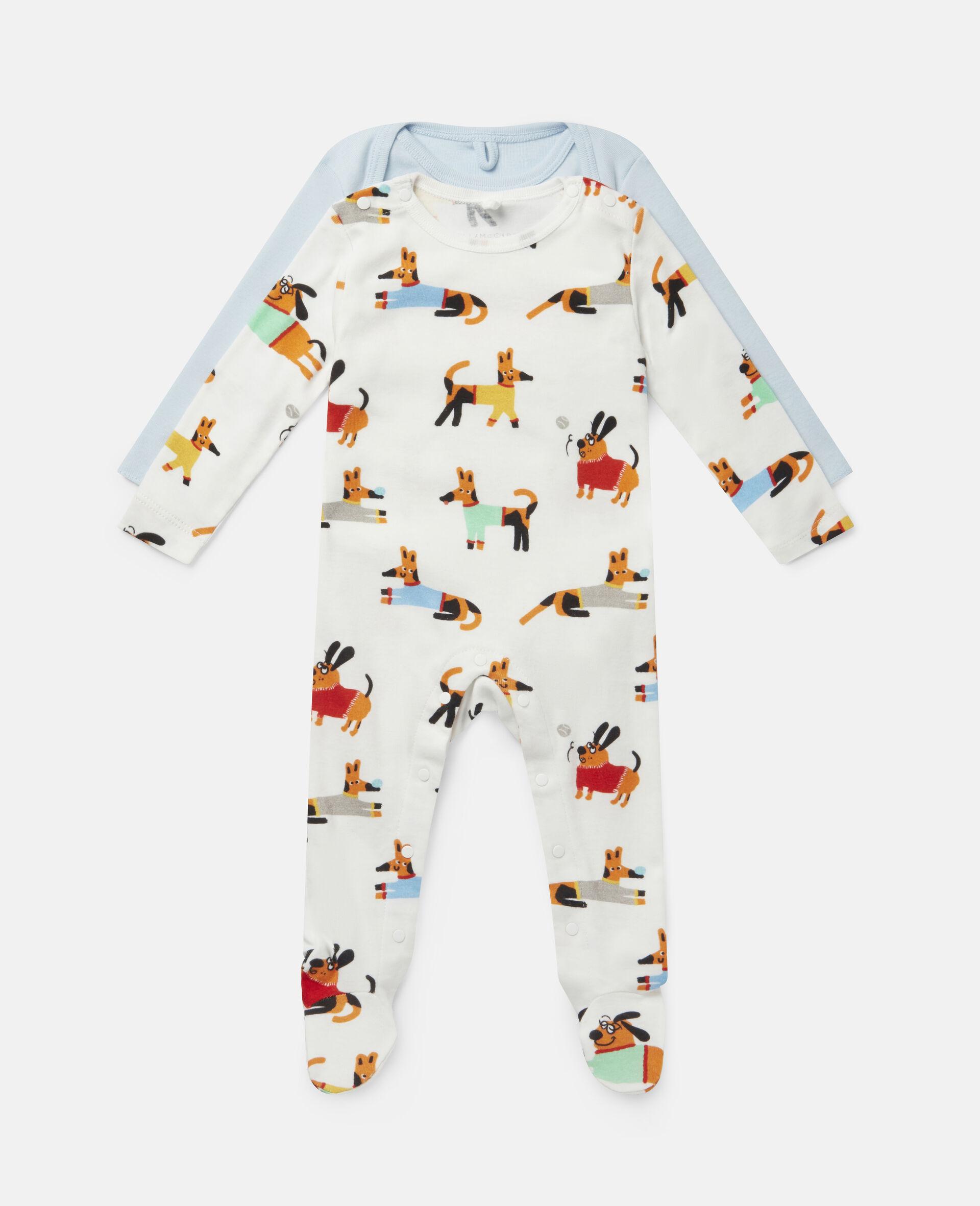 Baby Doggies Jersey Rib Babygrow & Body-Multicolour-large image number 0