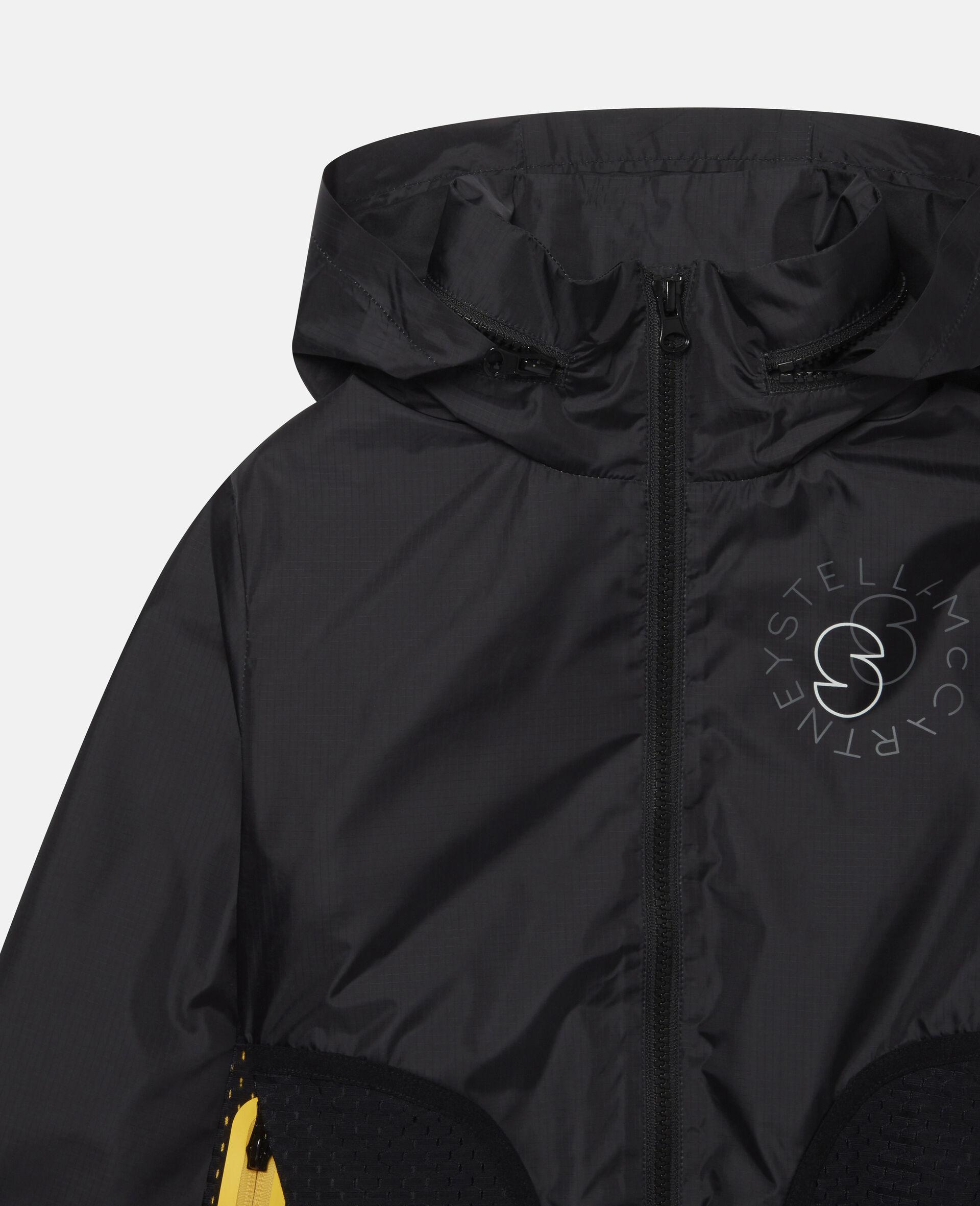 Active Hooded Jacket-Black-large image number 1