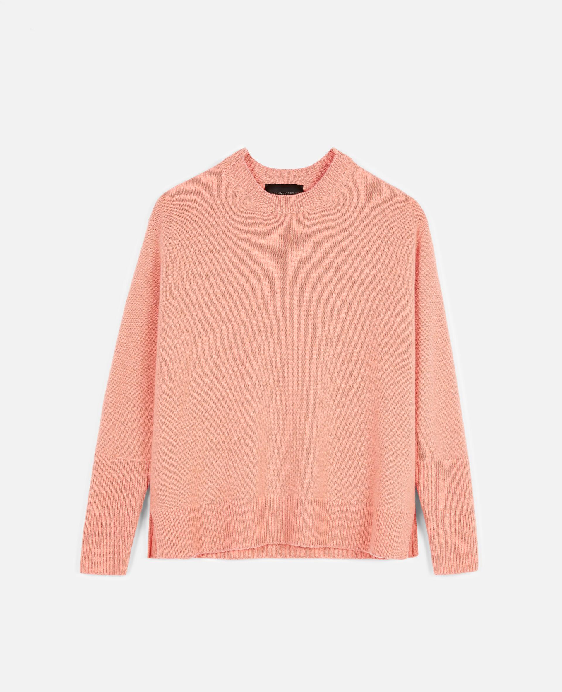 Pullover in Cashmere Rigenerato-Grigio-large image number 0