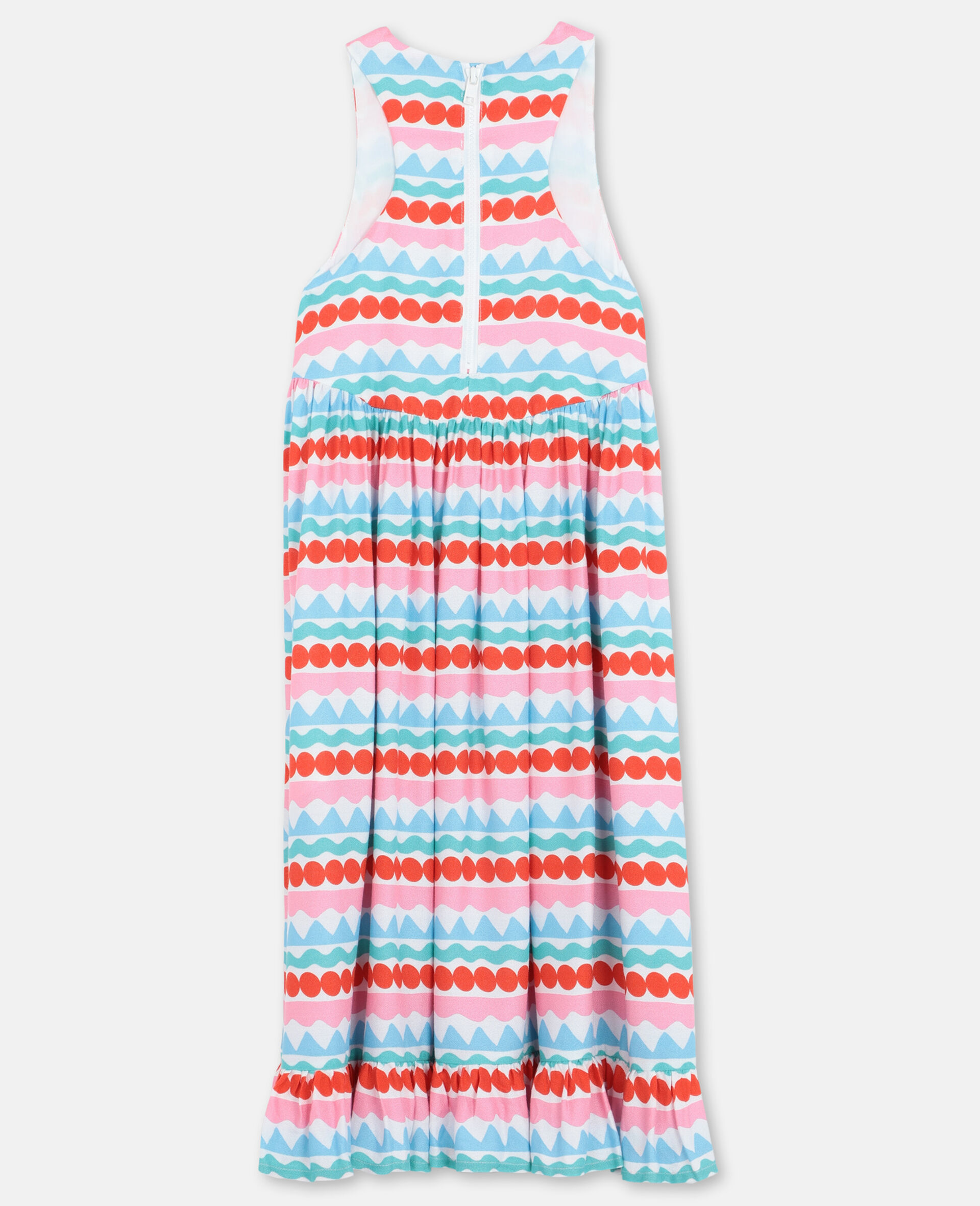 Graphic Striped Dress -Multicoloured-large image number 3