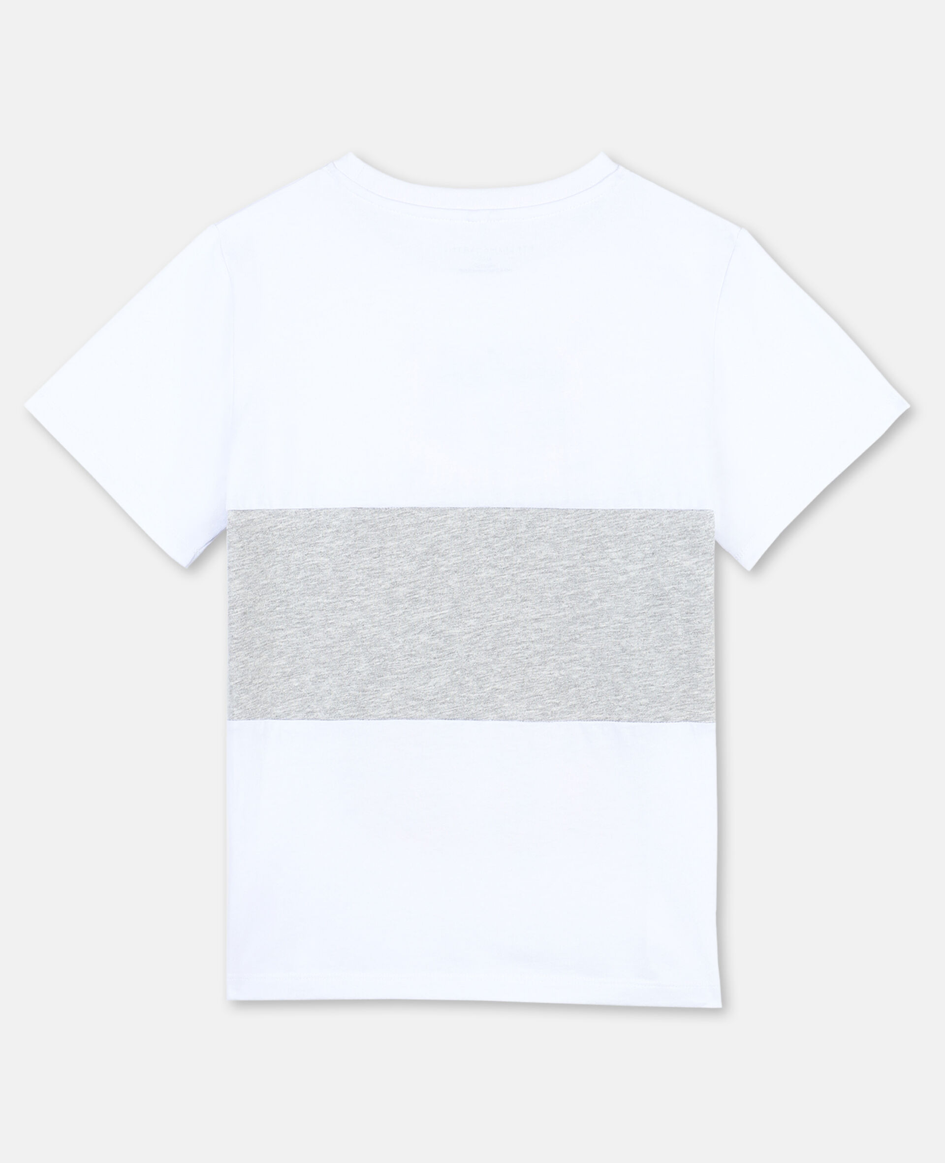 T-Shirt in Cotone con Tigre -Bianco-large image number 3
