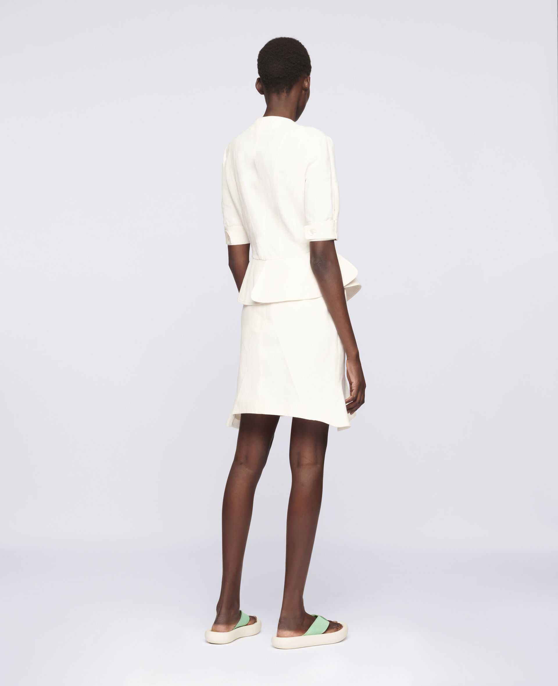Arabella Mini Skirt-White-large image number 2