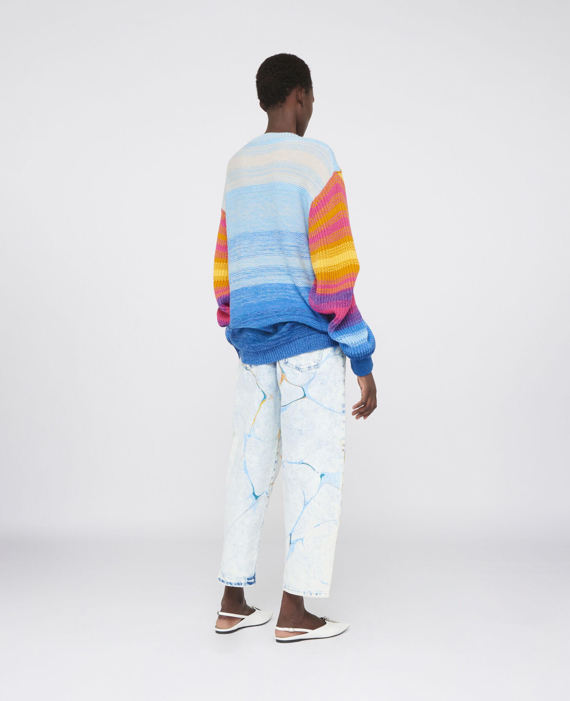 直筒牛仔裤-蓝色-large image number 2