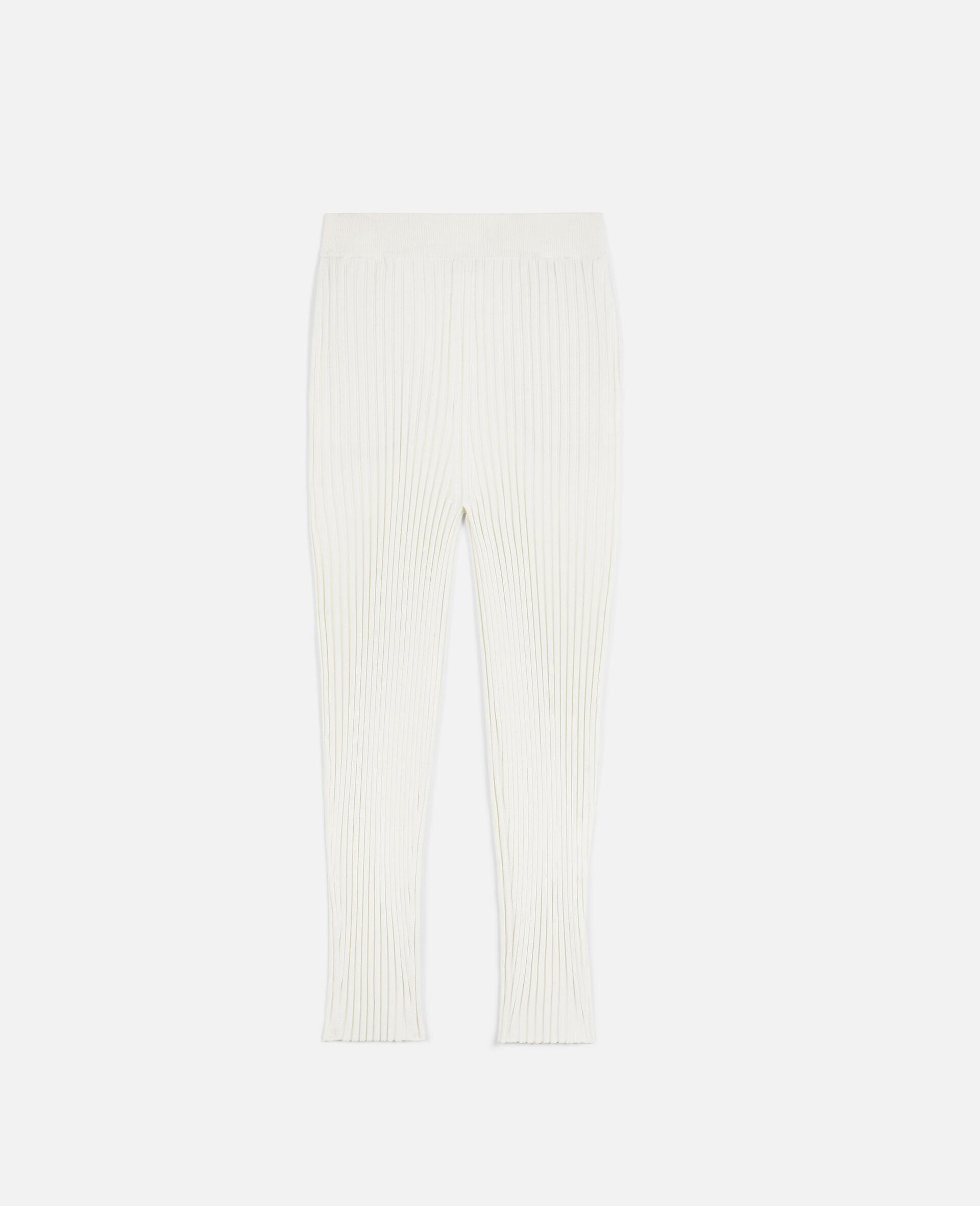 罗纹针织裤装-白色-large image number 0