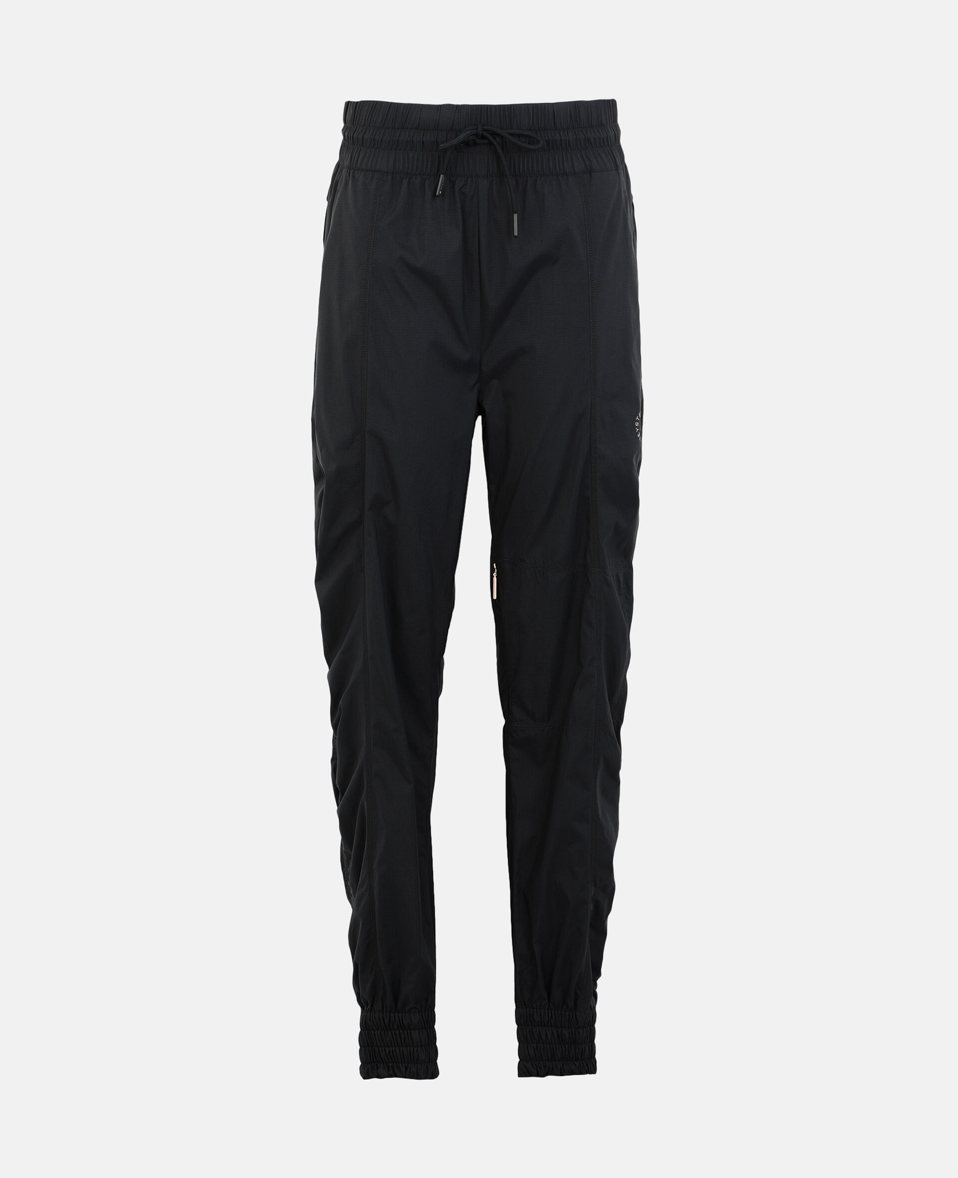 Black Woven Training Pants-Black-large image number 0
