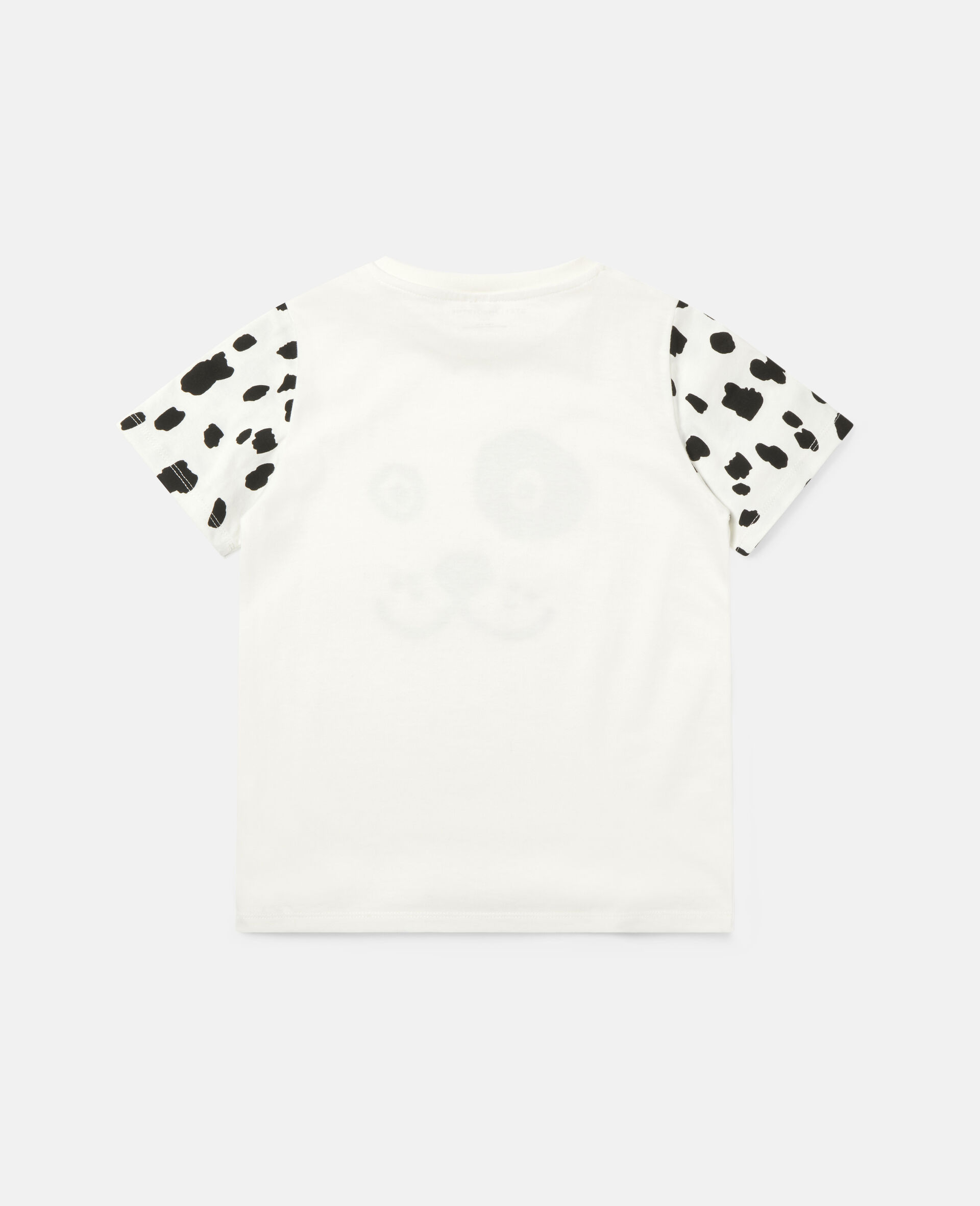 Dalmatian Cotton T-shirt -White-large image number 3