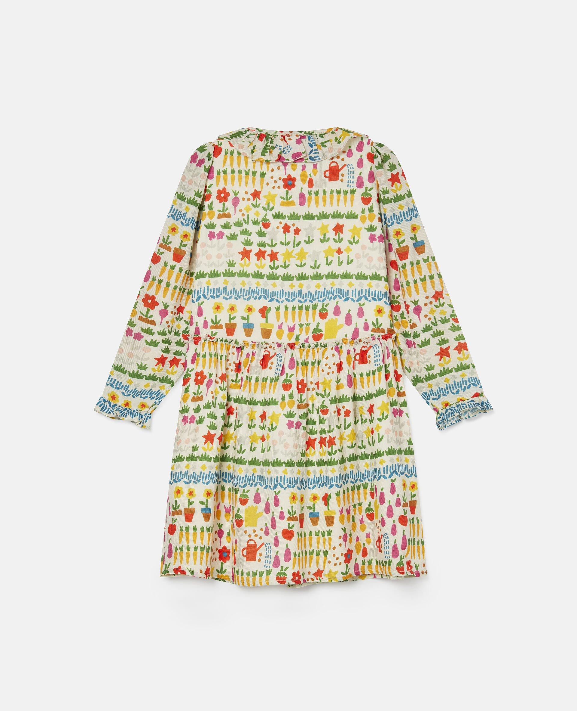 Robe en laine motifs jardin-Fantaisie-large image number 3