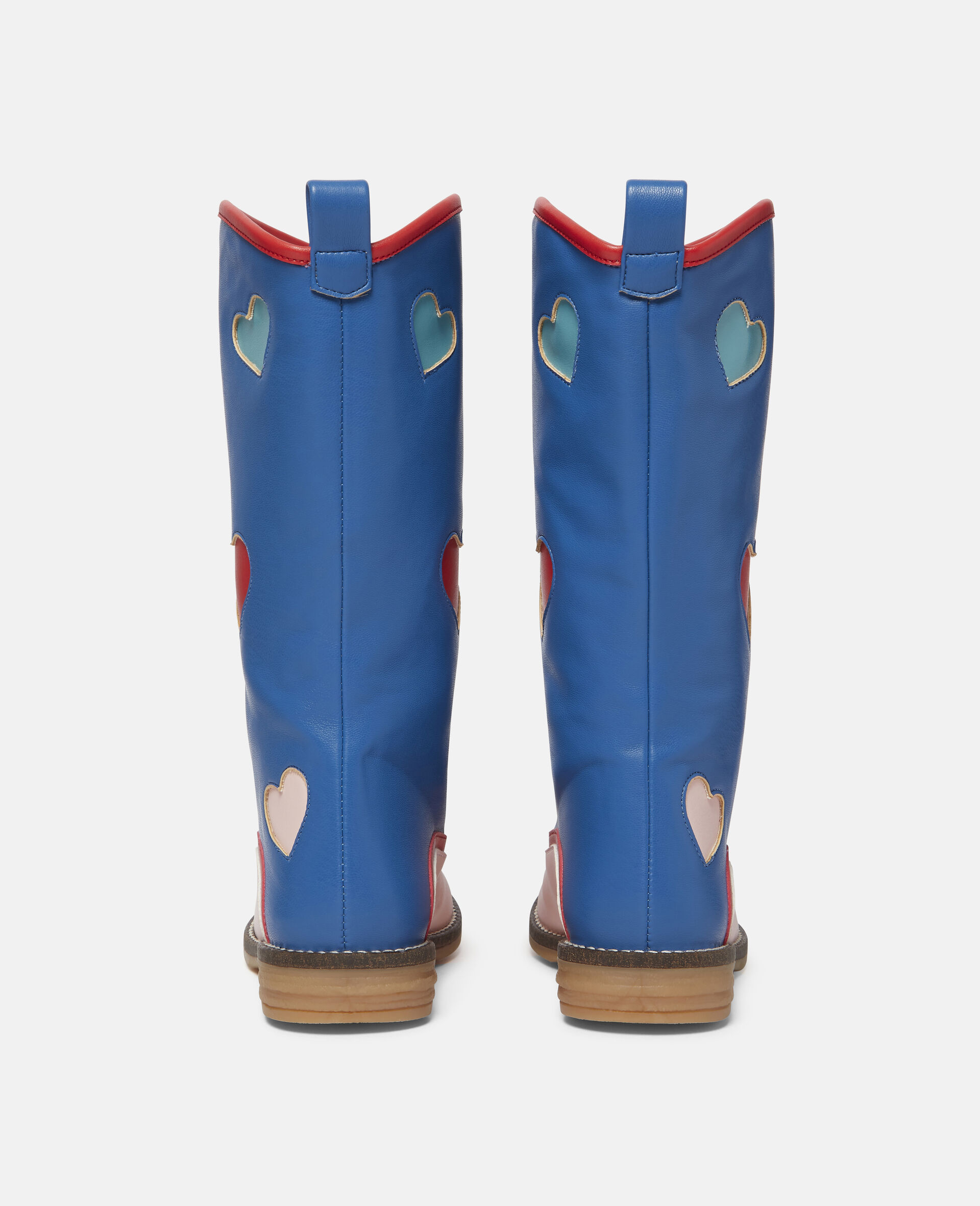 Hearts Tassels Boots-Blue-large image number 2