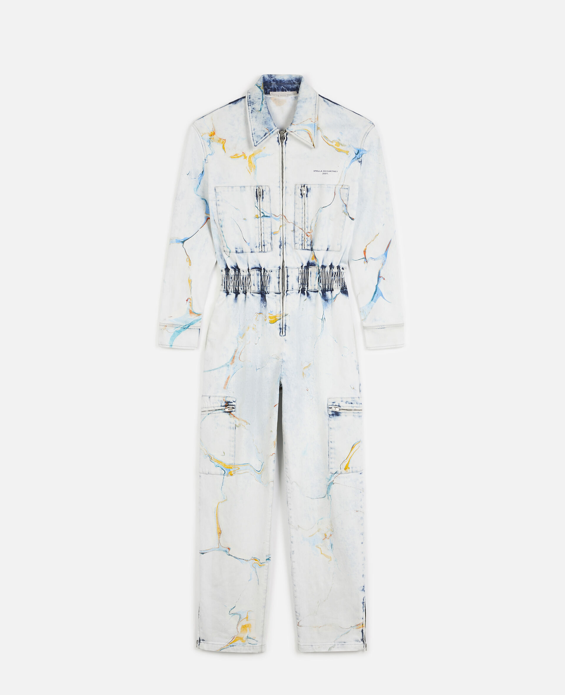 The Denim Jumpsuit -Multicolour-large image number 0