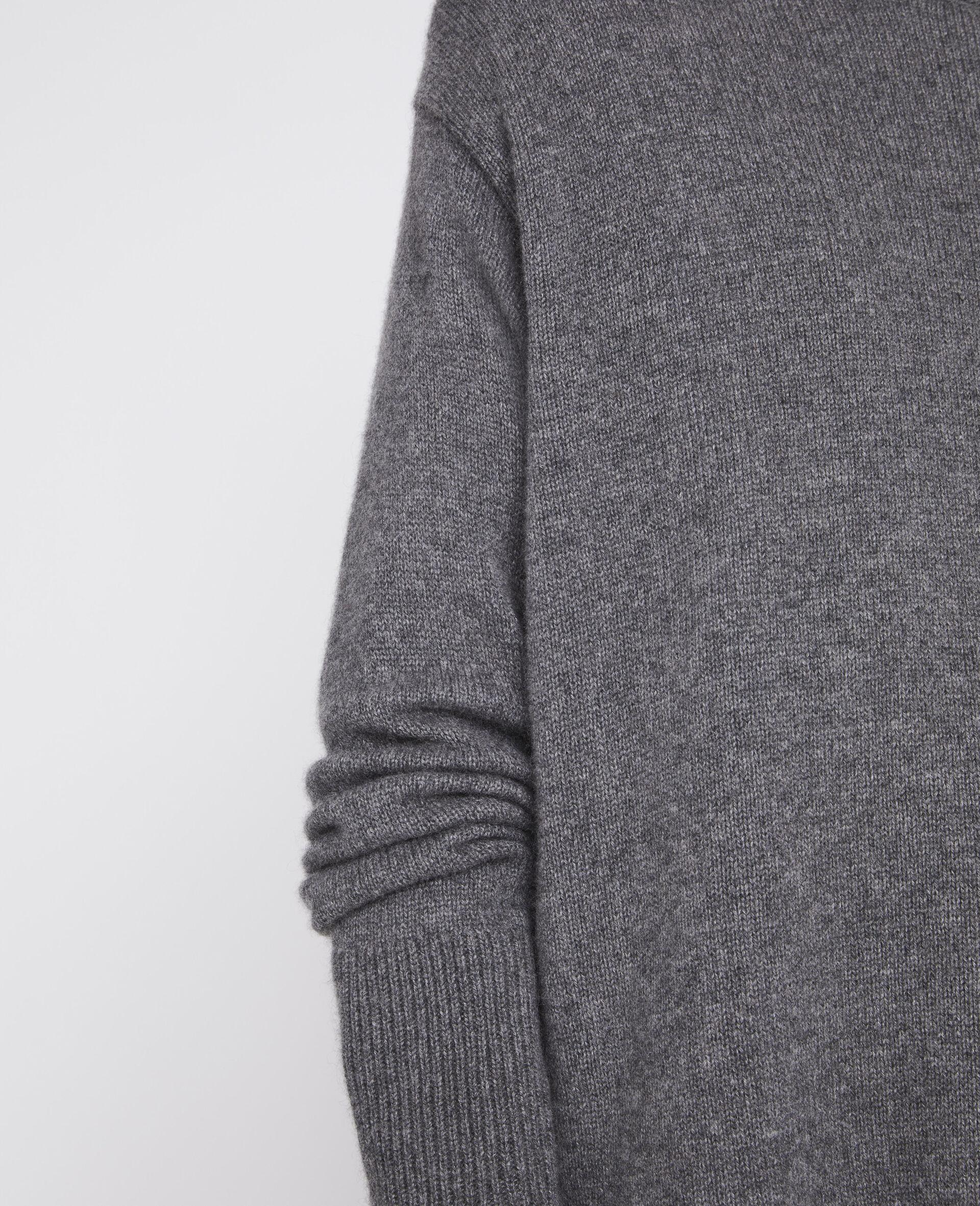 再生羊绒套衫-灰色-large image number 3