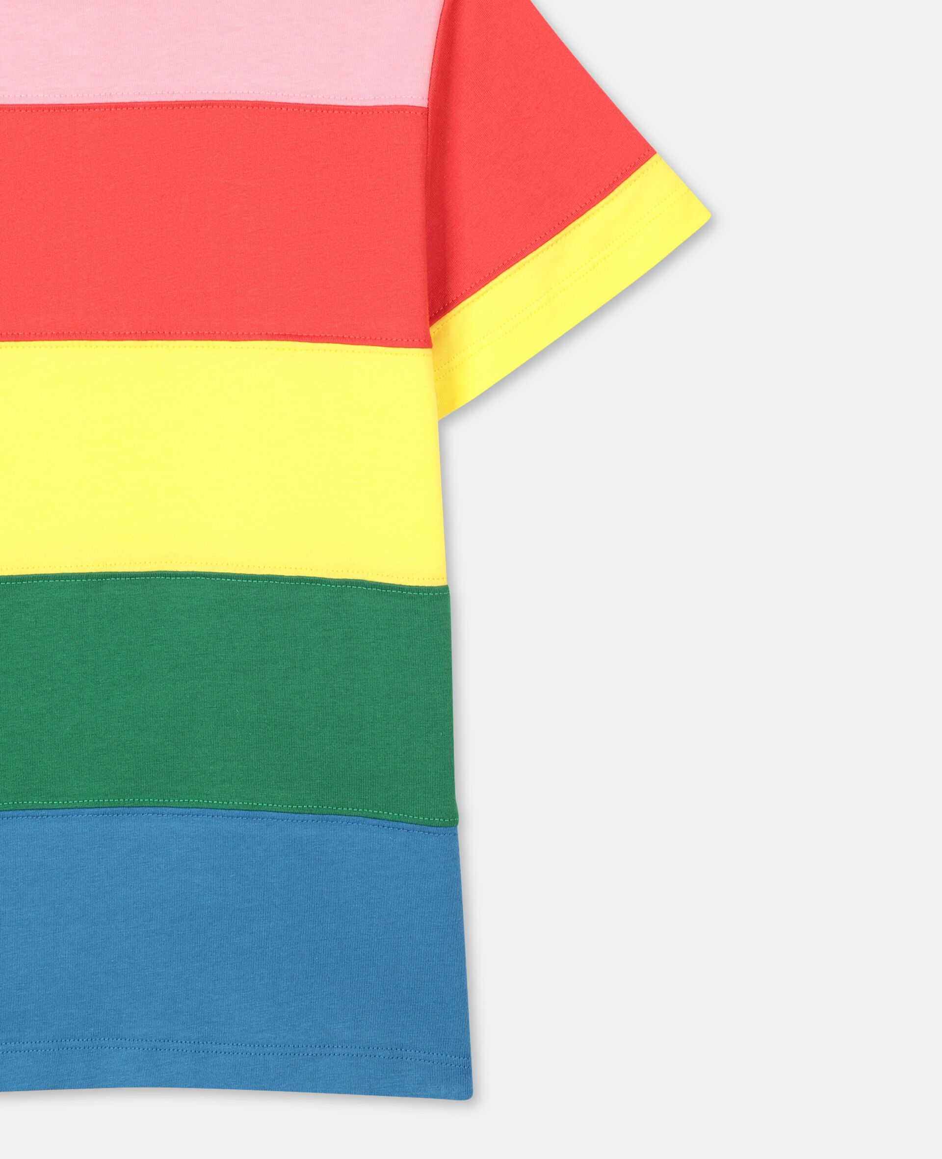 Striped Cotton T-shirt-Multicolour-large image number 2