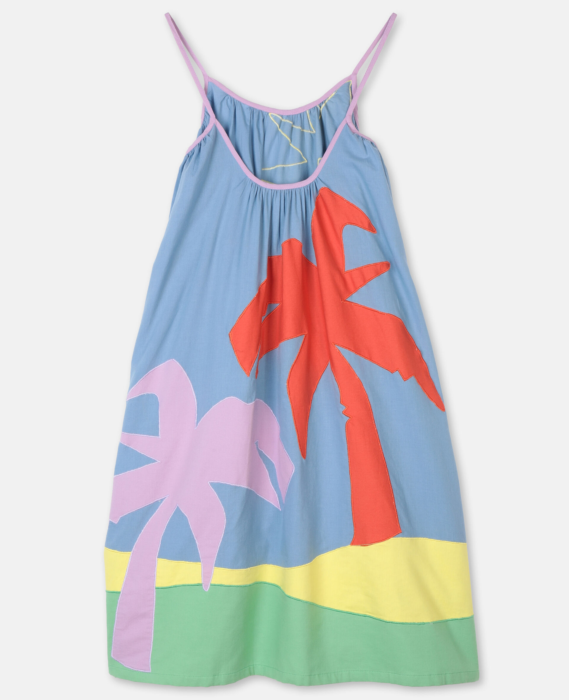 Palm Patches Cotton Dress-Multicoloured-large image number 3
