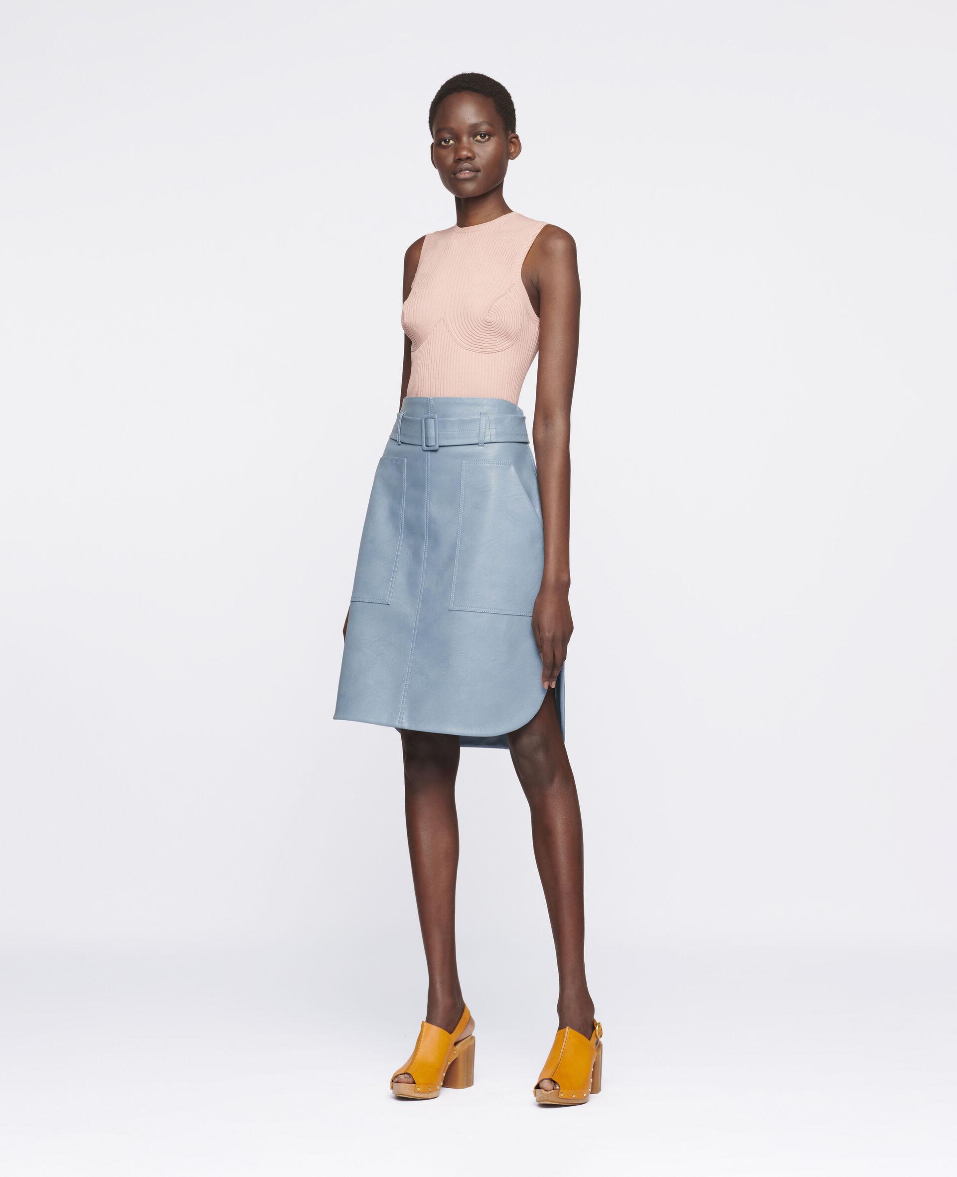 Ivy Midi Skirt -Blue-large image number 1