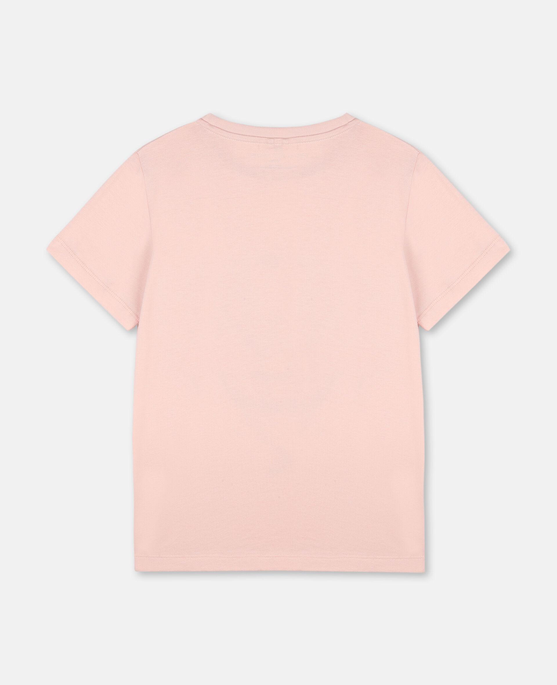 Dancing Flamingo棉质T恤-粉色-large image number 3