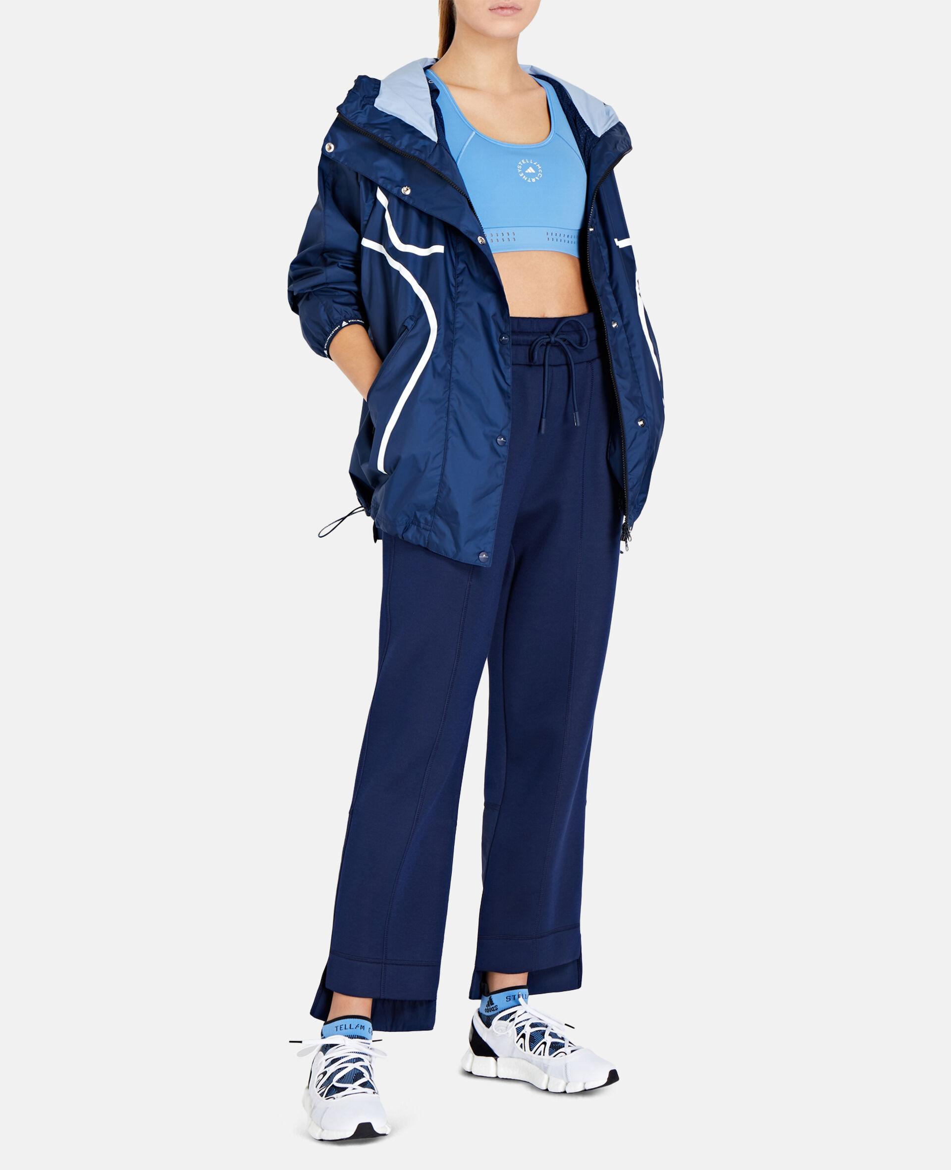 Blue Tapered Sweatpants-Blue-large image number 1