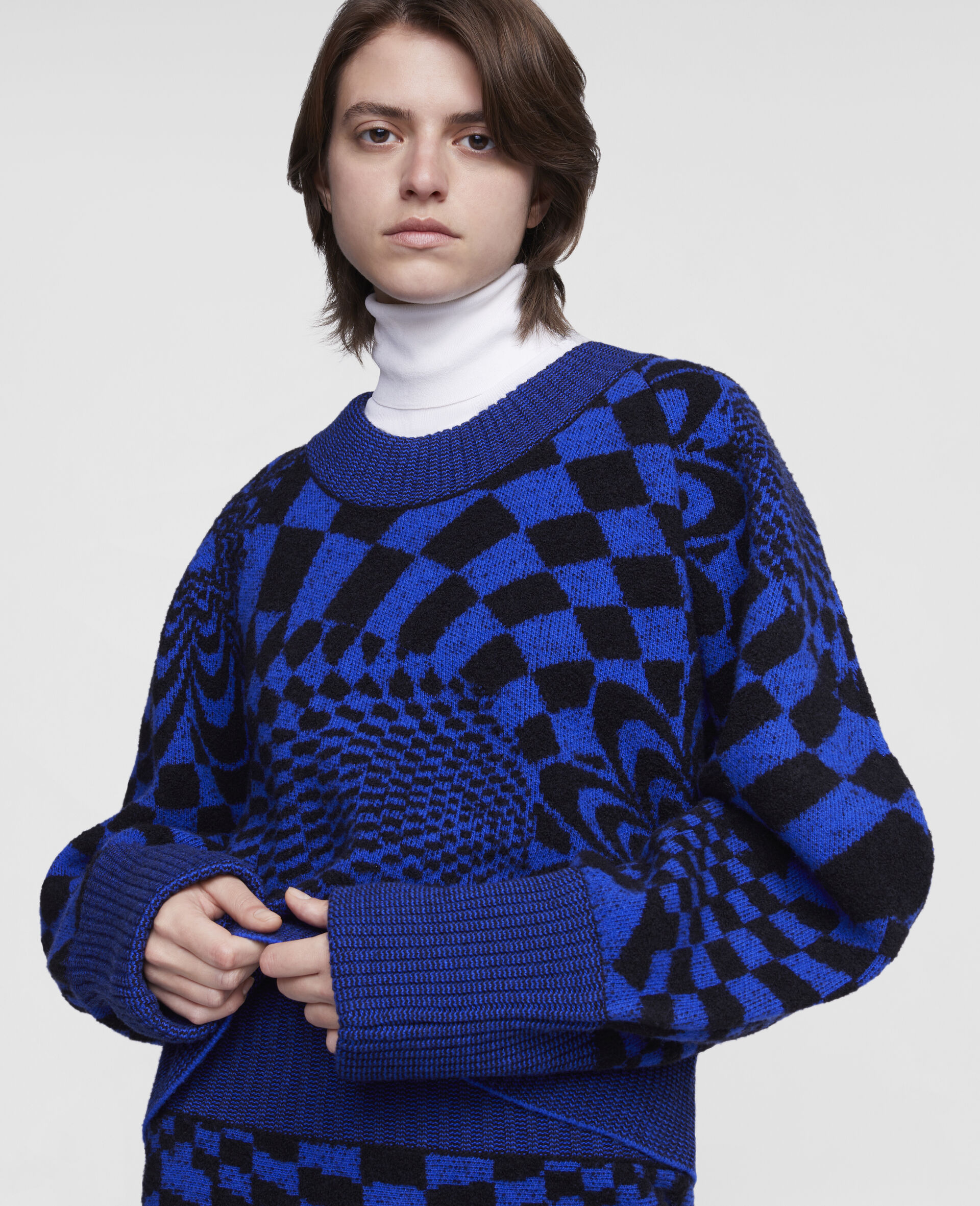 Geometric Pattern Sweater-Multicolour-large image number 3