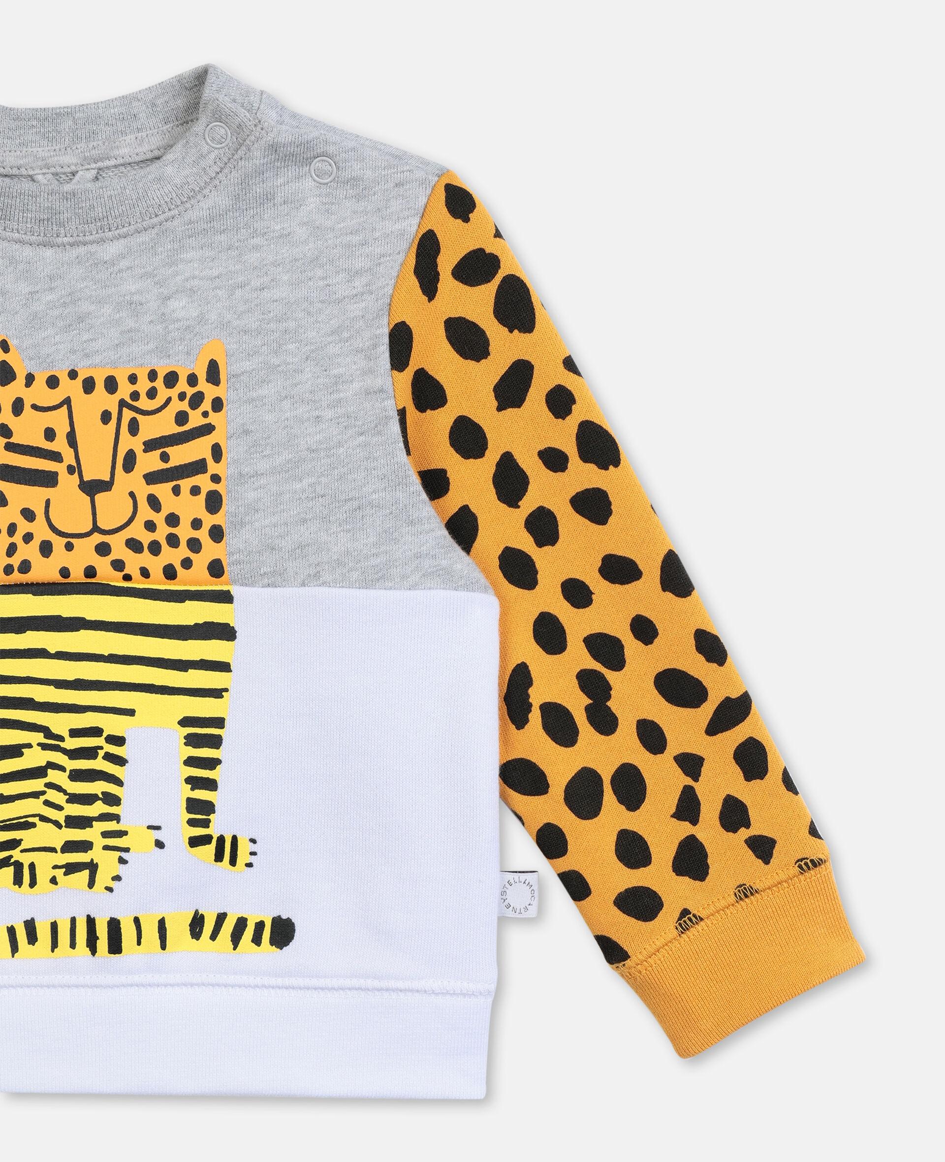 Tiger Cotton Sweatshirt-Grey-large image number 1