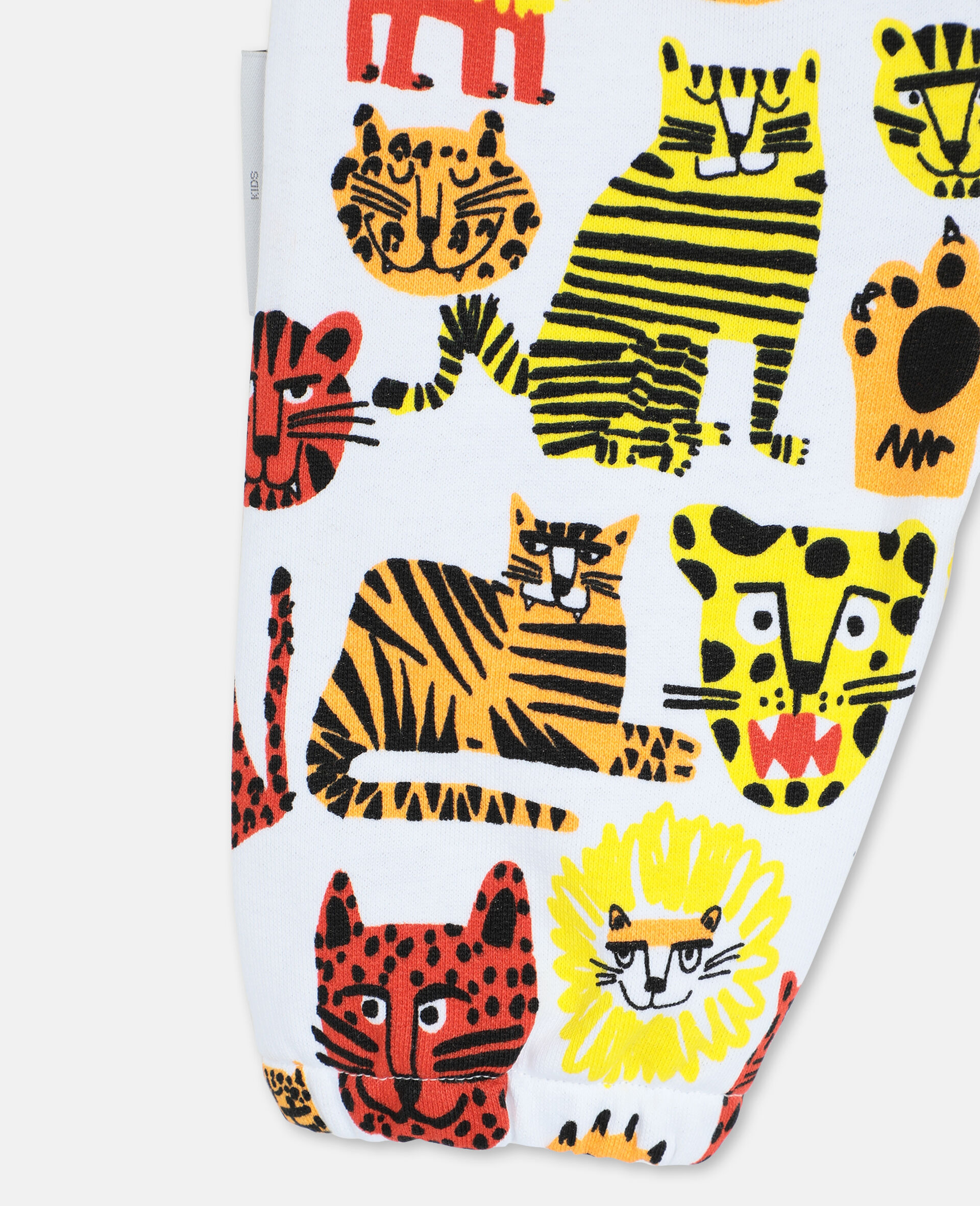 Wild Cats Cotton Joggers -Yellow-large image number 2