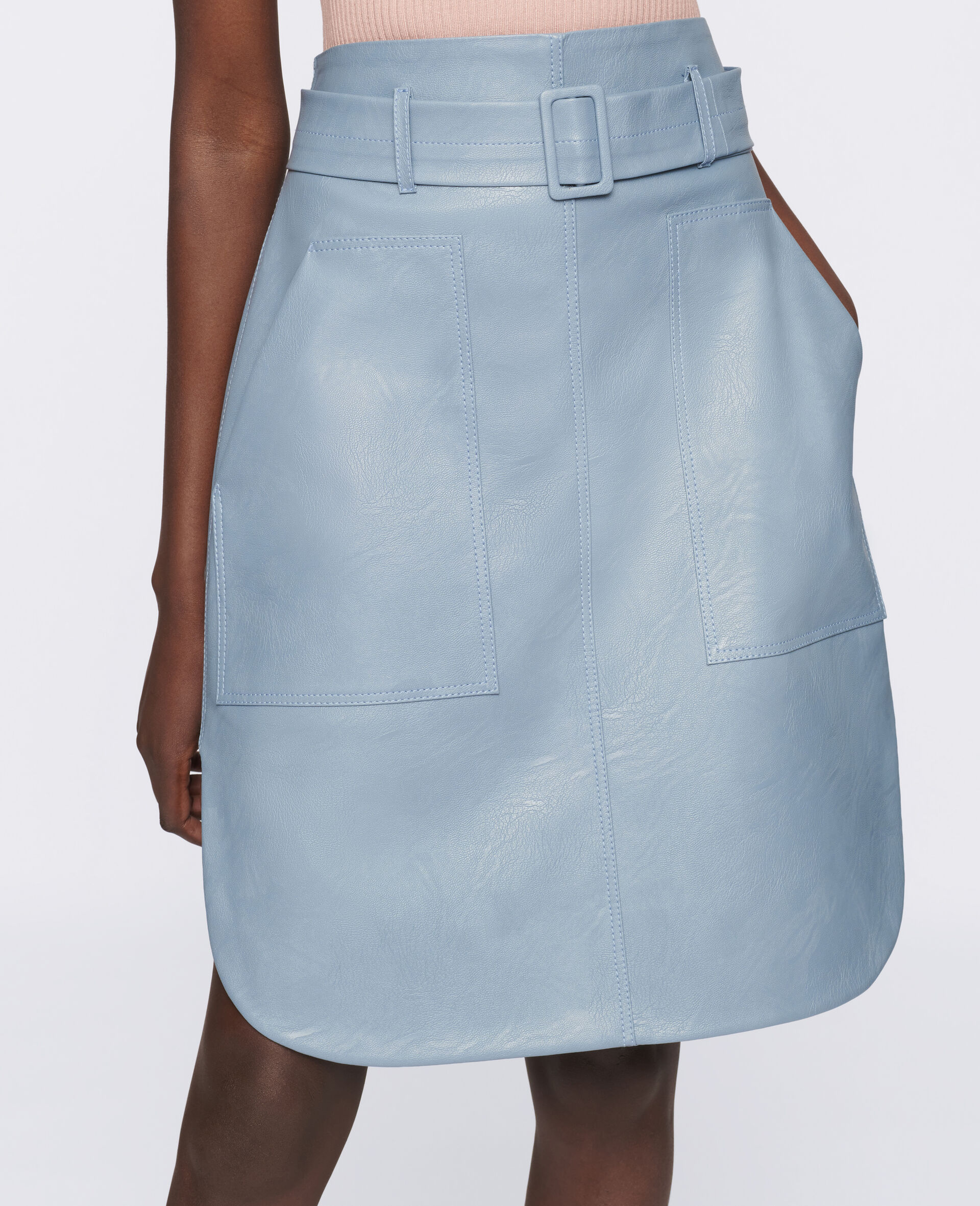 Ivy Midi Skirt -Blue-large image number 3